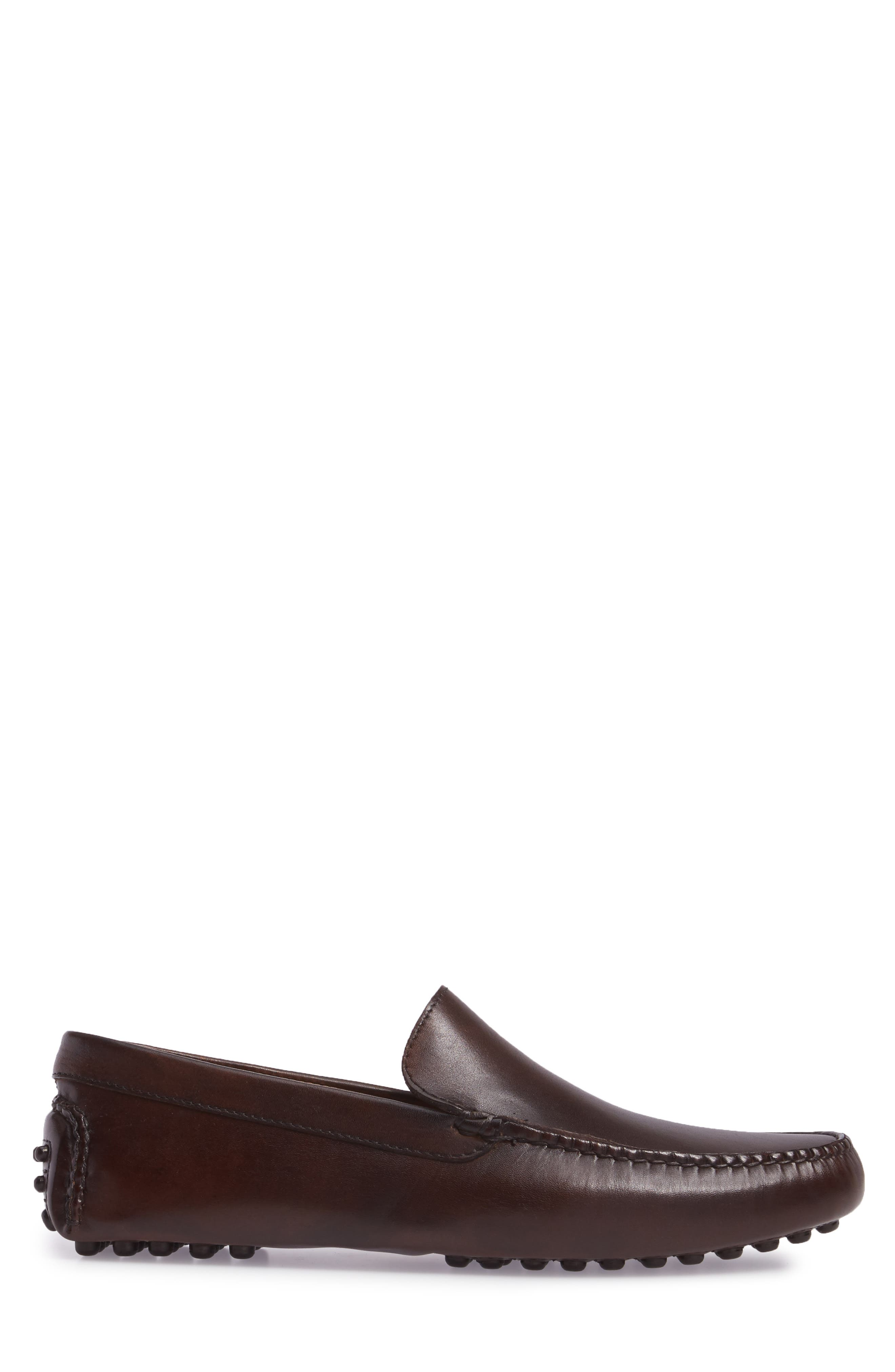 Cane Driving Shoe,                             Alternate thumbnail 3, color,                             Brown Leather