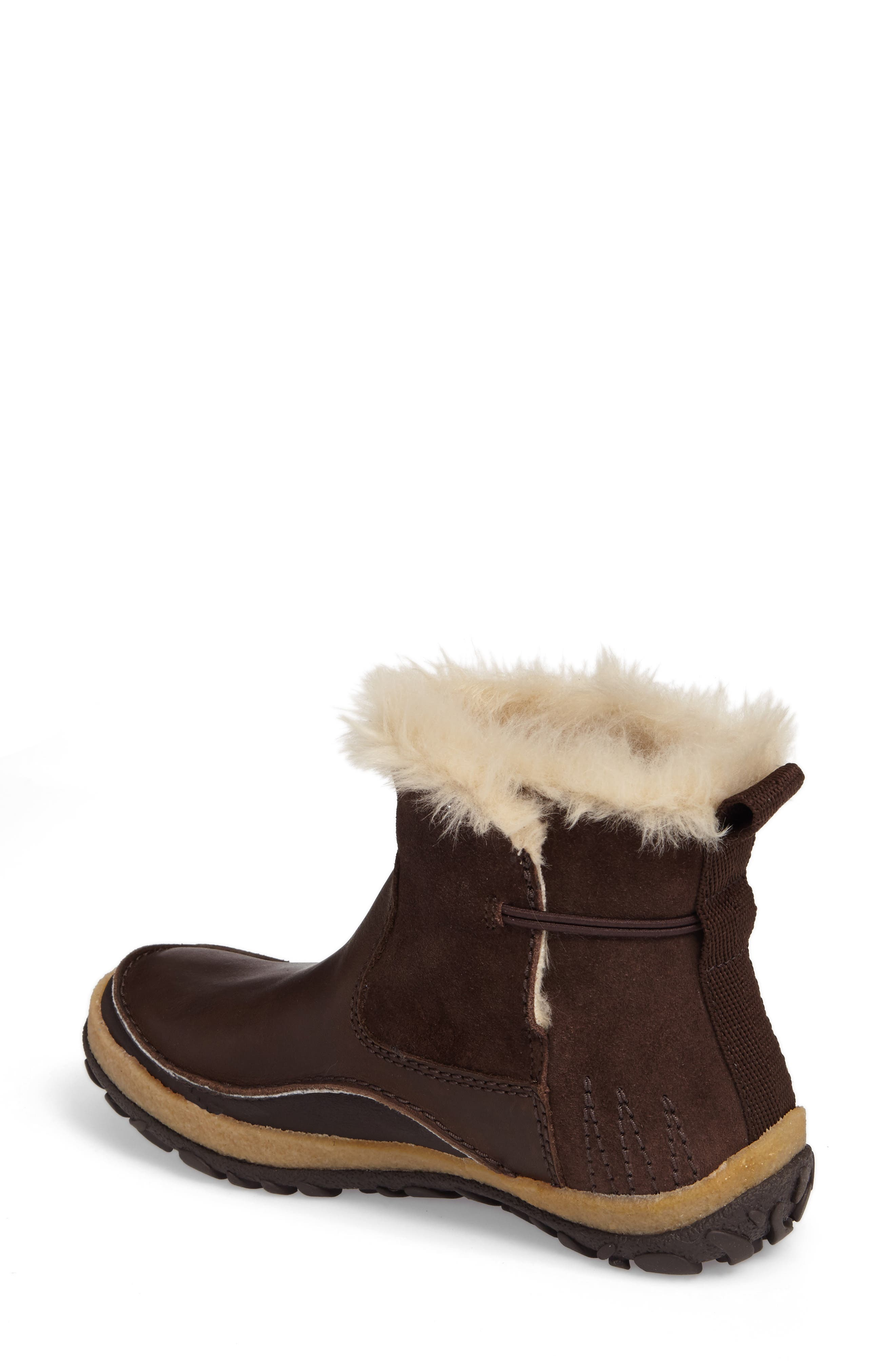 Tremblant Pull-On Polar Waterproof Bootie,                             Alternate thumbnail 2, color,                             Espresso Leather