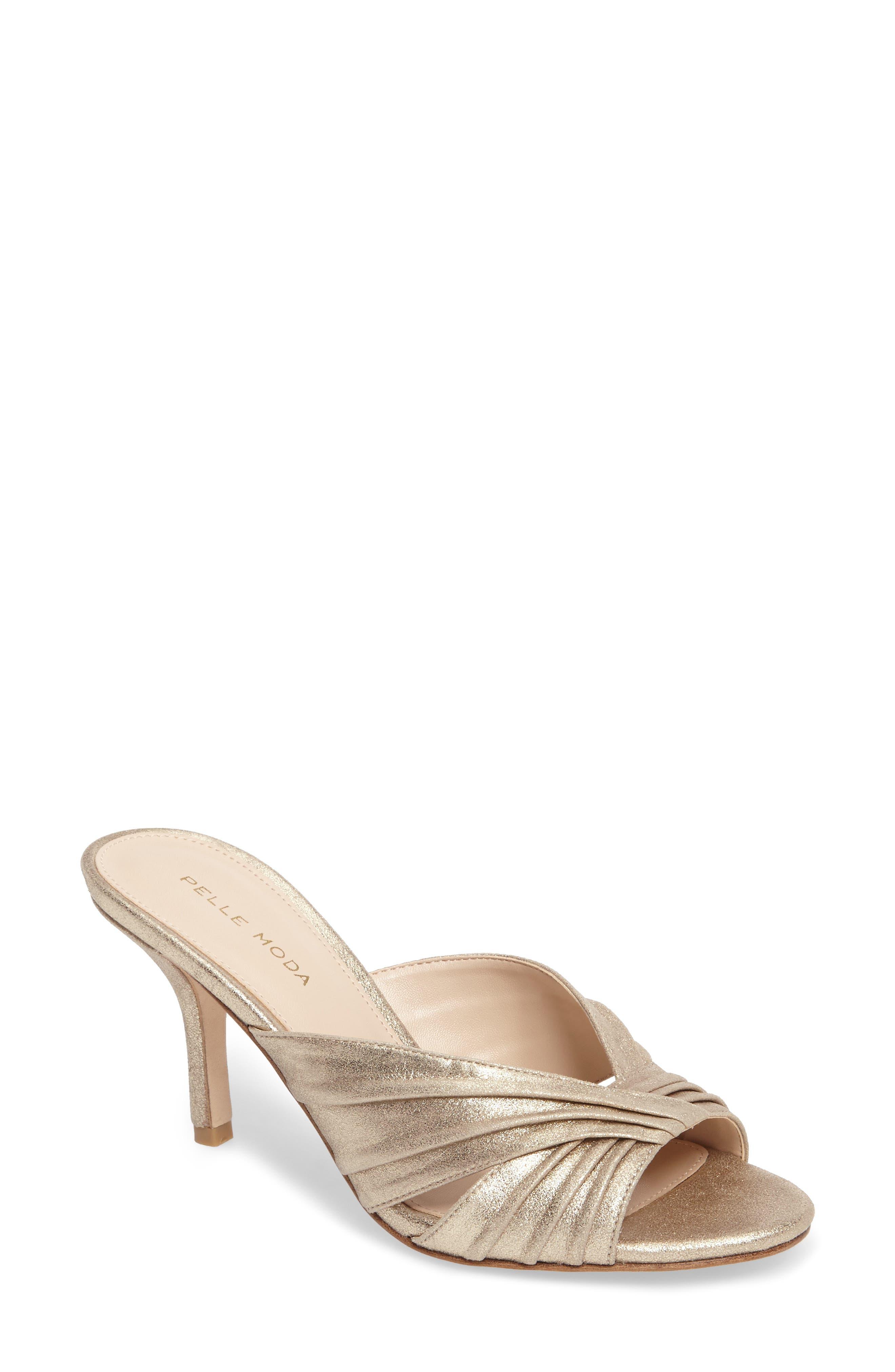 Isla Sandal,                         Main,                         color, Platinum Gold Leather