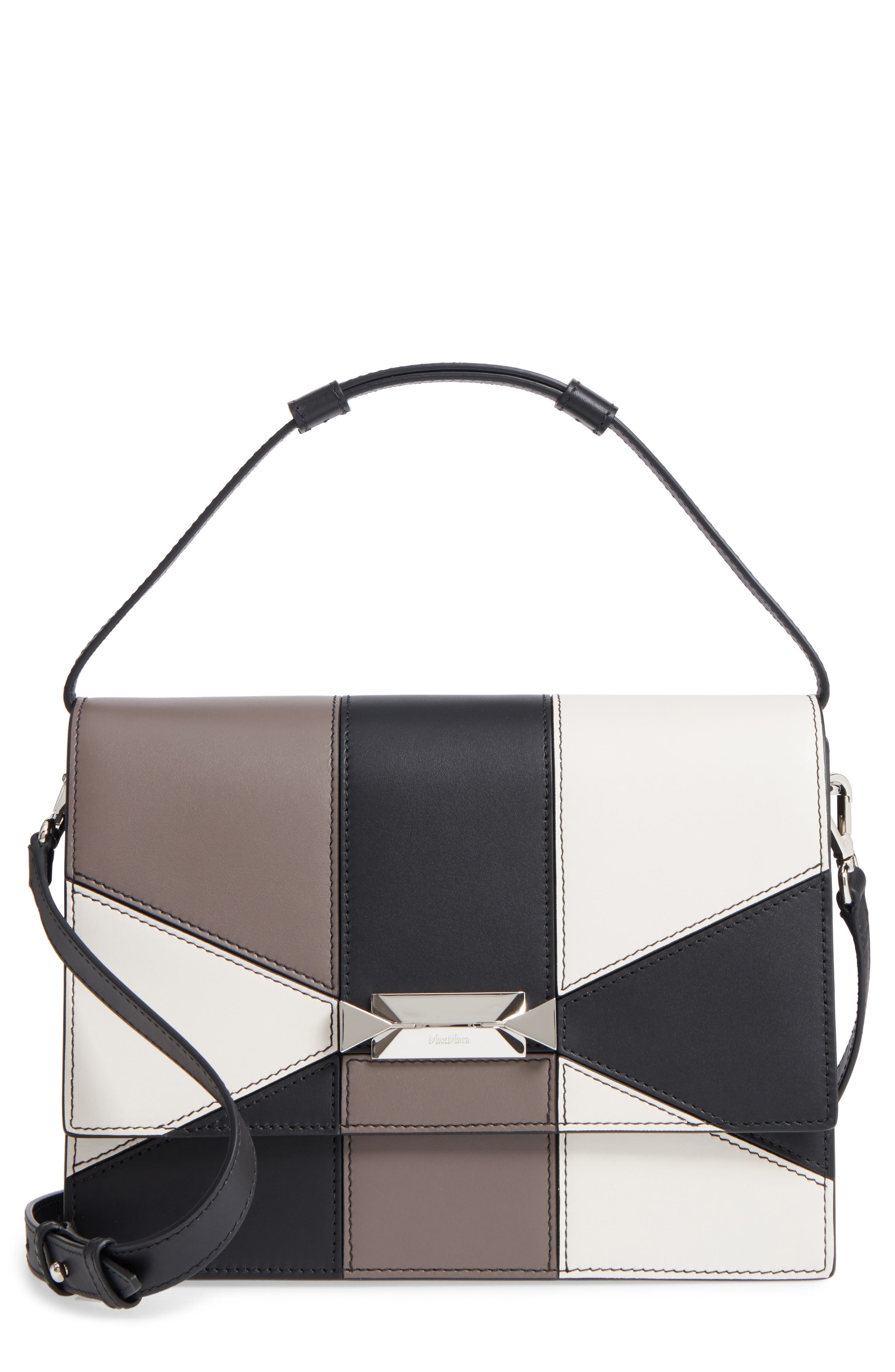 Alternate Image 1 Selected - Max Mara Patchwork Butterfly Calfskin Leather Top Handle Satchel