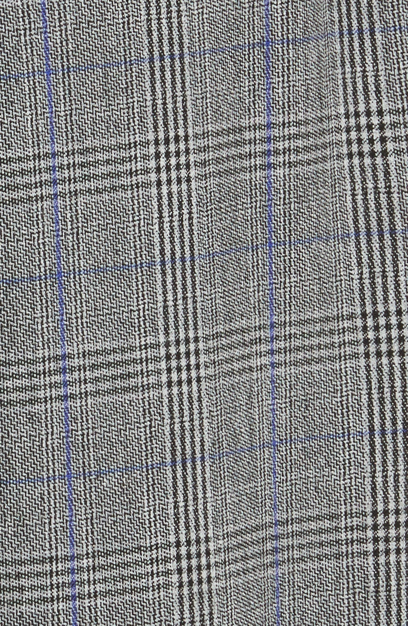 Check Pleat Front Pants,                             Alternate thumbnail 6, color,                             Black Combo