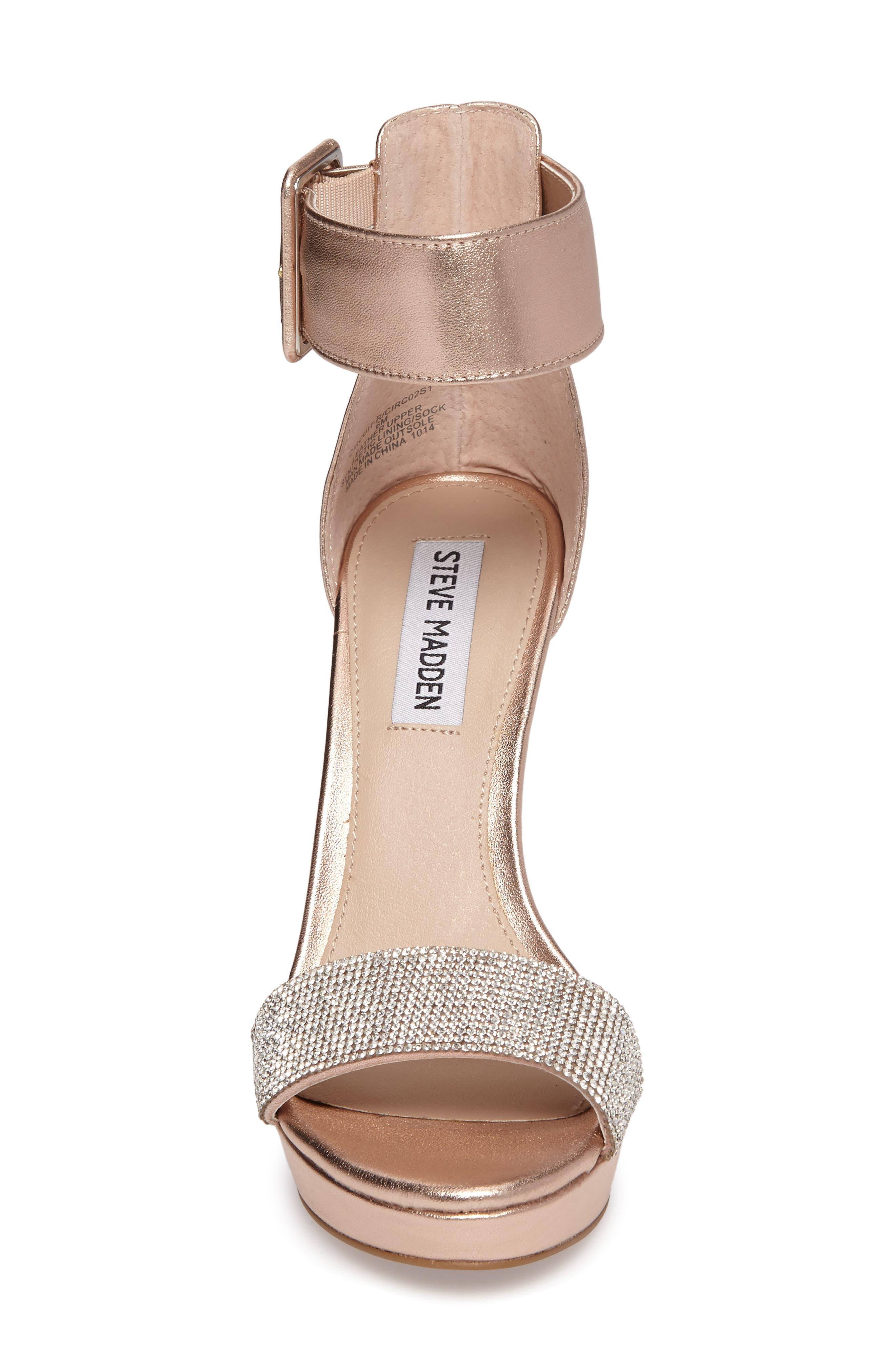 Circuit Sandal,                             Alternate thumbnail 4, color,                             Rose Gold Leather