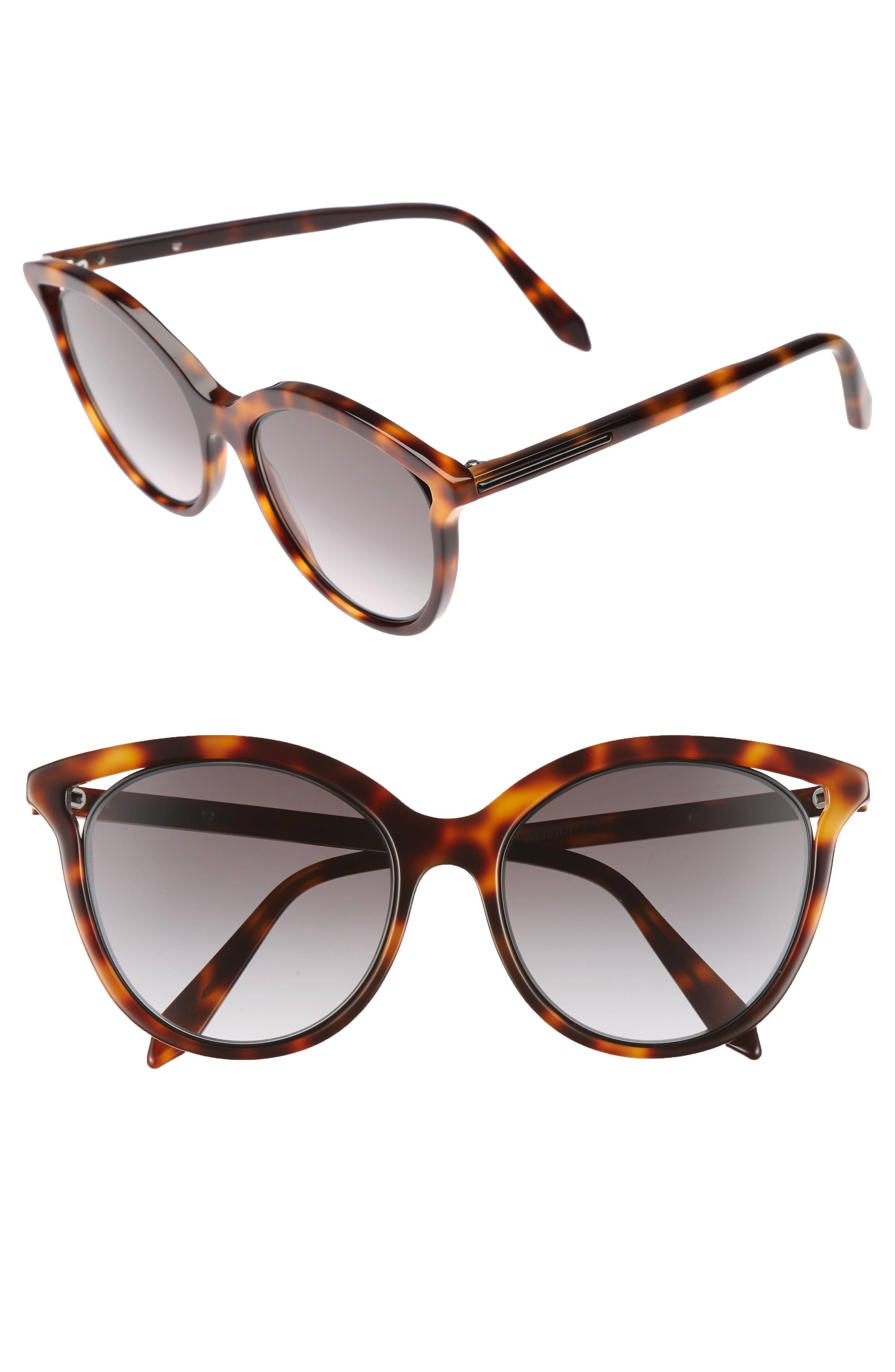 Main Image - Victoria Beckham Cutaway Kitten 54mm Cat Eye Sunglasses