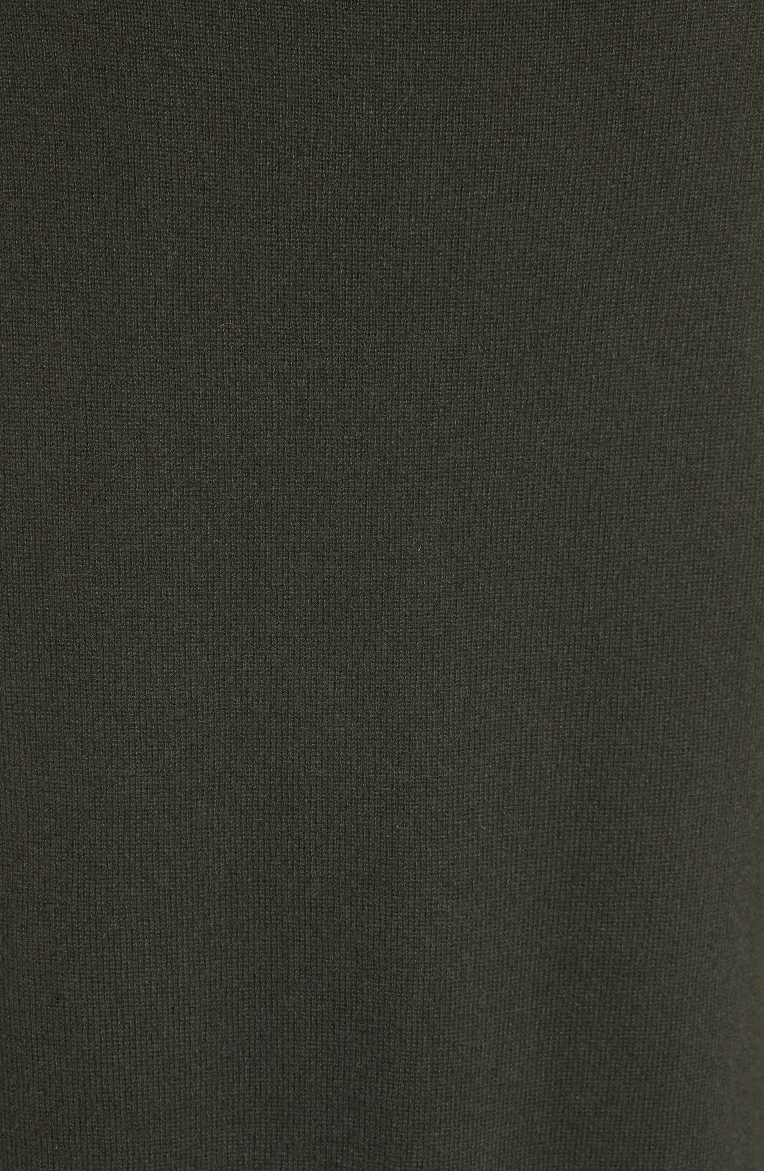 Cashmere Turtleneck Sweater Dress,                             Alternate thumbnail 5, color,                             Dark Olive