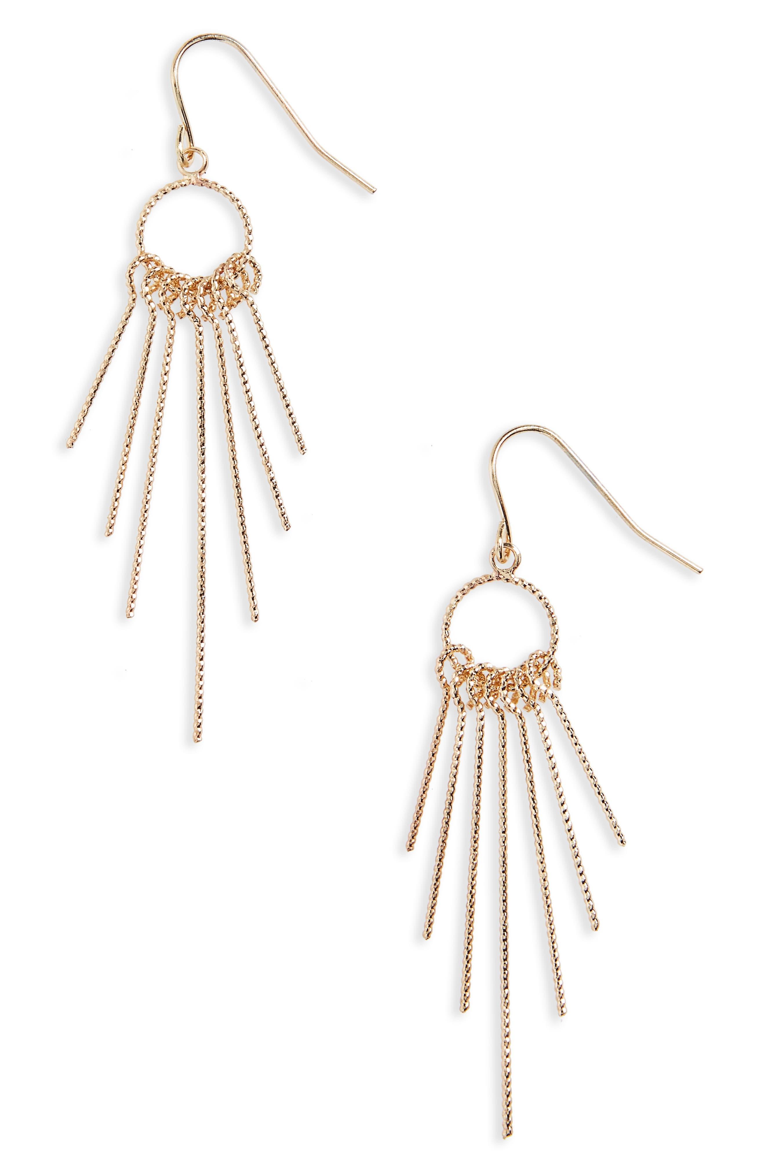 Natasha Gold Sticks Drop Earrings