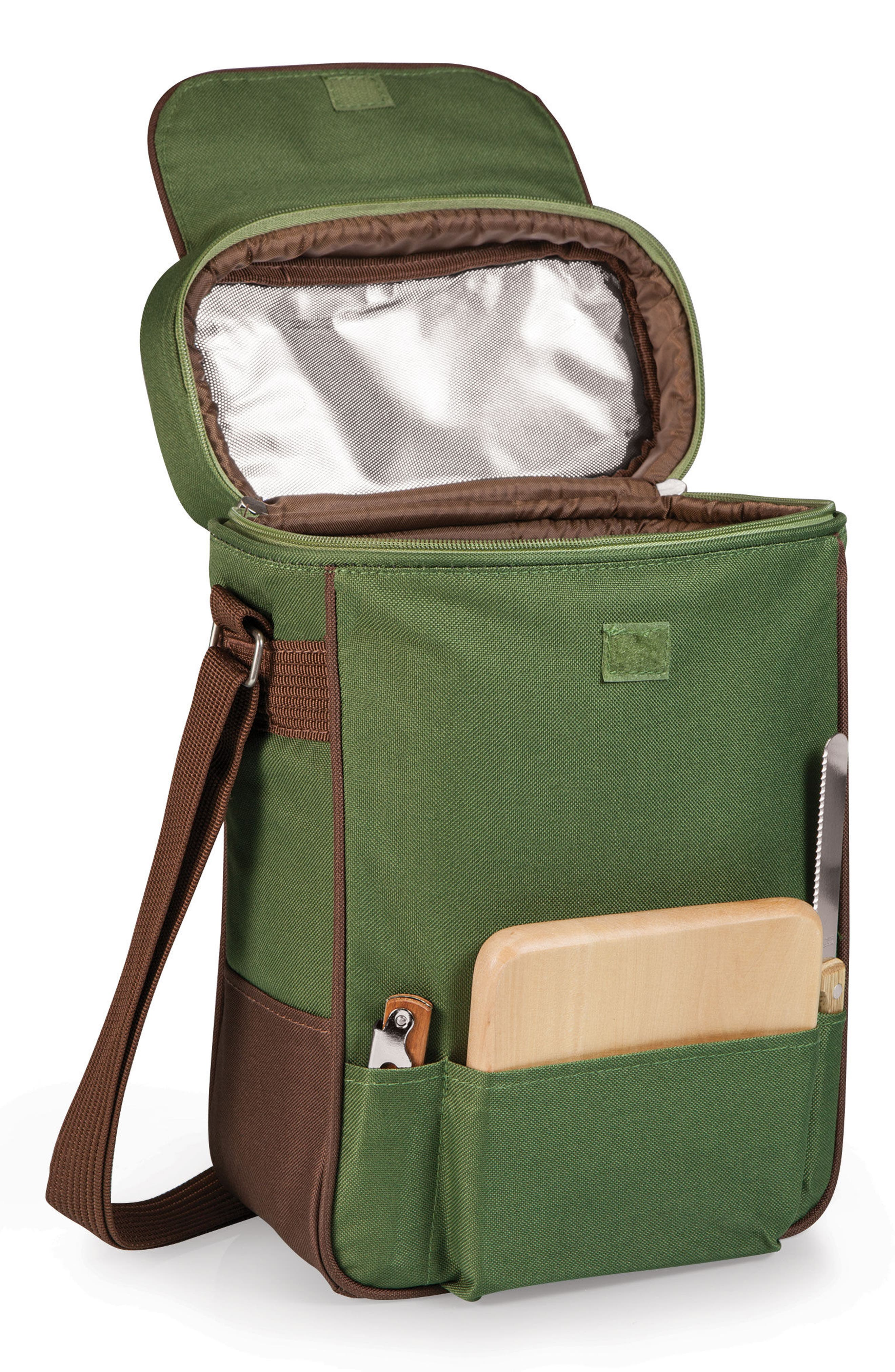 Duet Wine Tote,                             Alternate thumbnail 2, color,                             Pine Green
