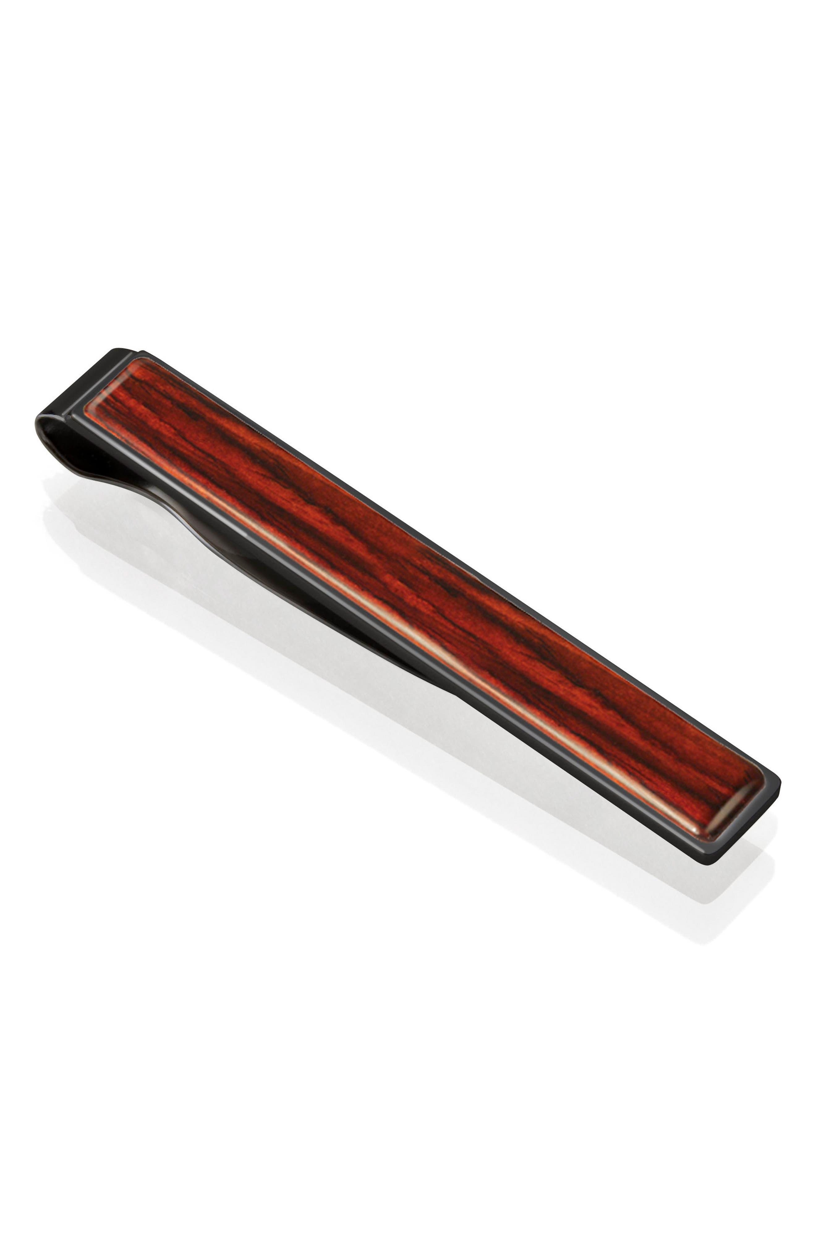 M-Clip Cocoblo Tie Clip,                         Main,                         color, Brown