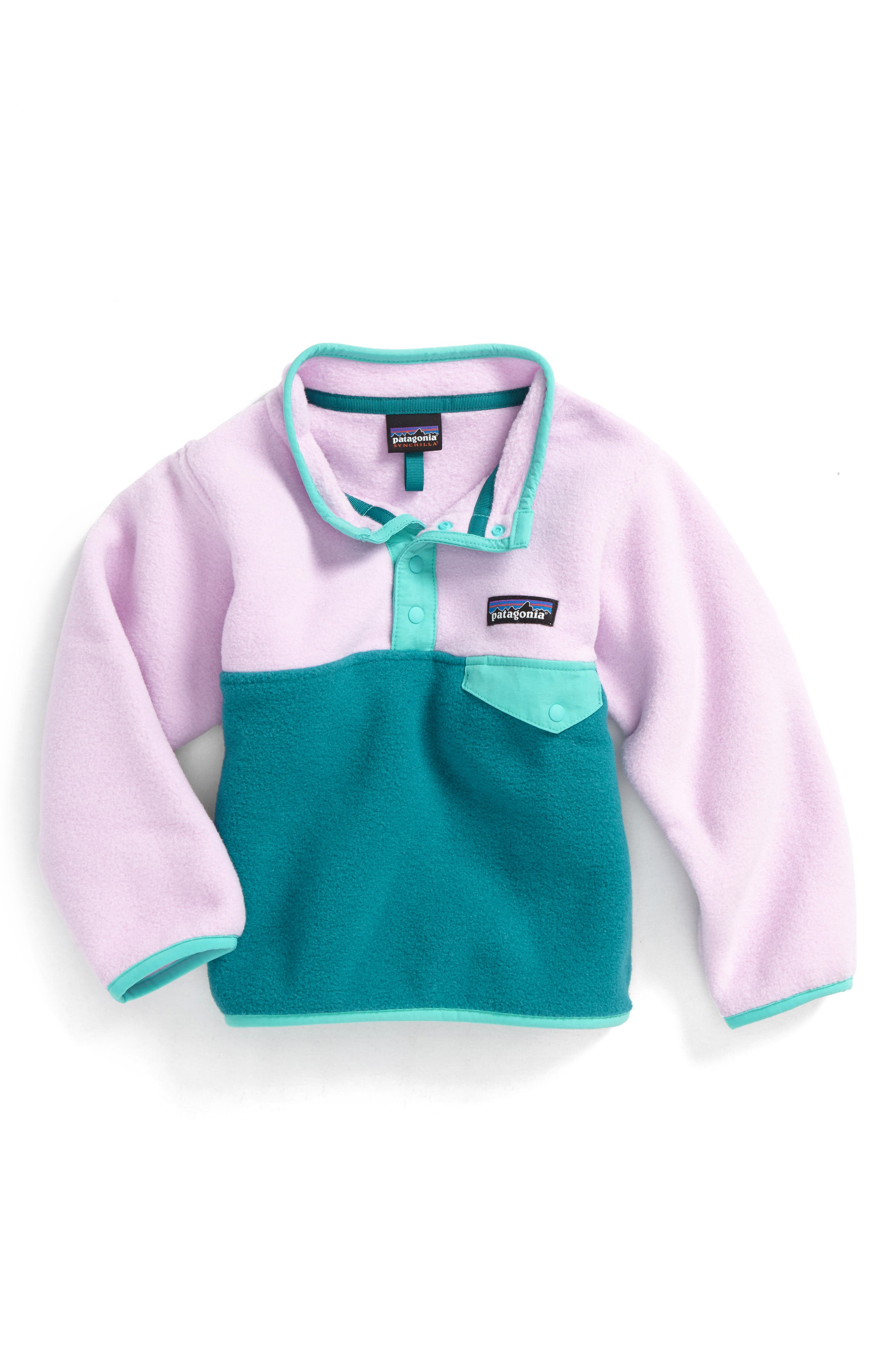 Main Image - Patagonia Synchilla® Snap-T® Fleece Pullover (Toddler Girls)