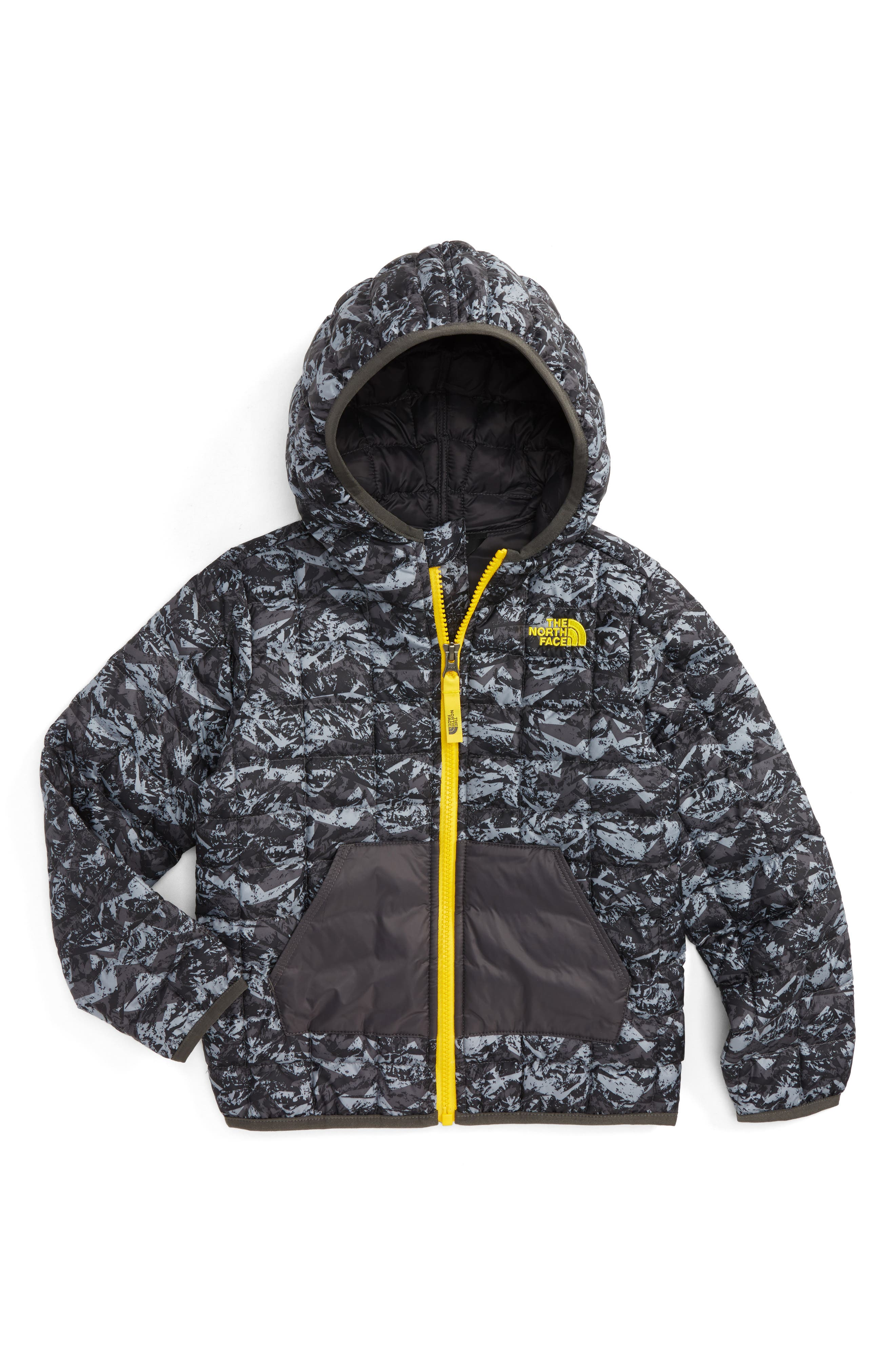 ThermoBall<sup>™</sup> PrimaLoft<sup>®</sup> Hoodie Jacket,                             Main thumbnail 1, color,                             Graphite Grey/ Geo Mountain