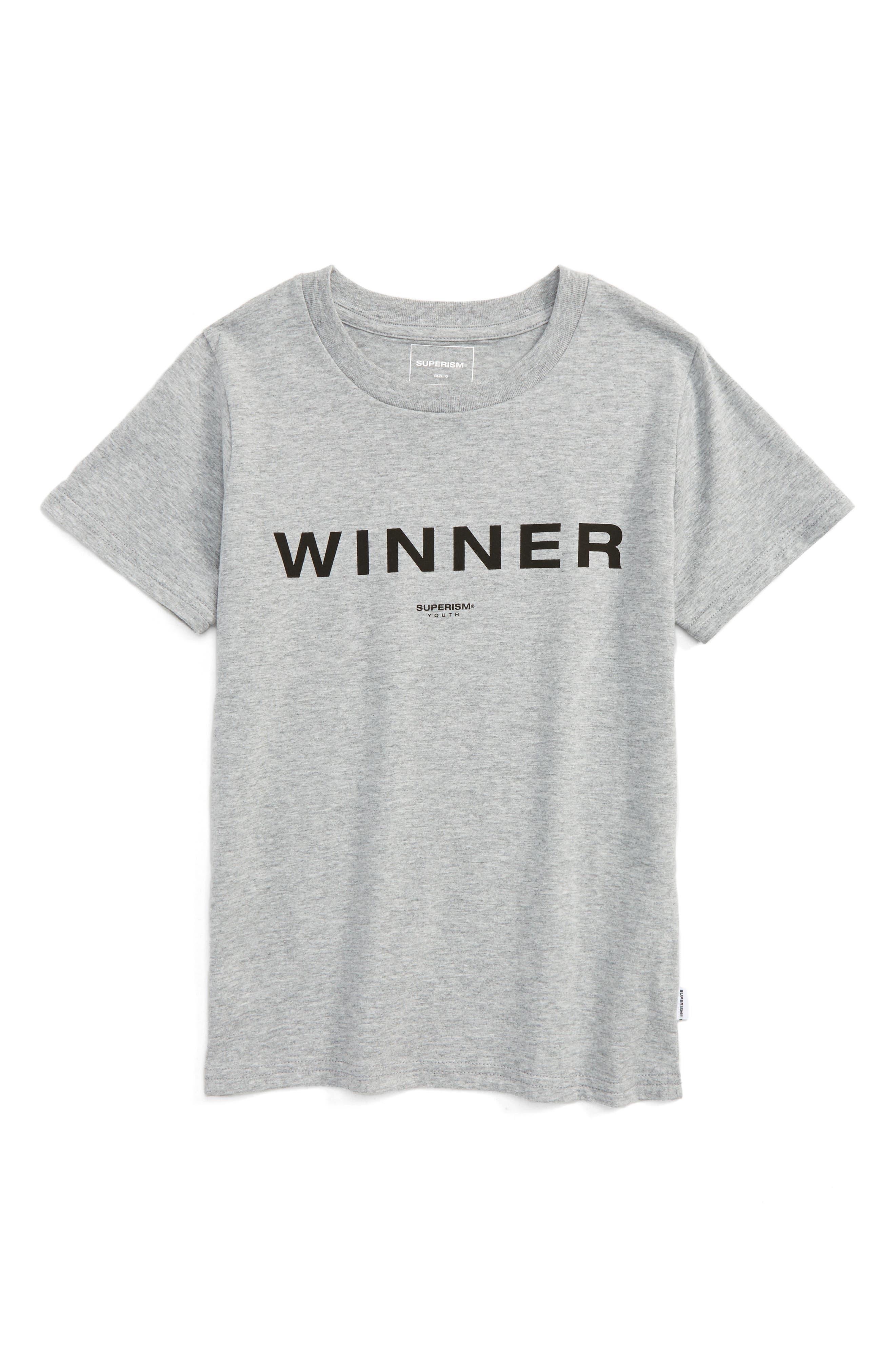 Alternate Image 1 Selected - Superism Winner T-Shirt (Toddler Boys & Little Boys)