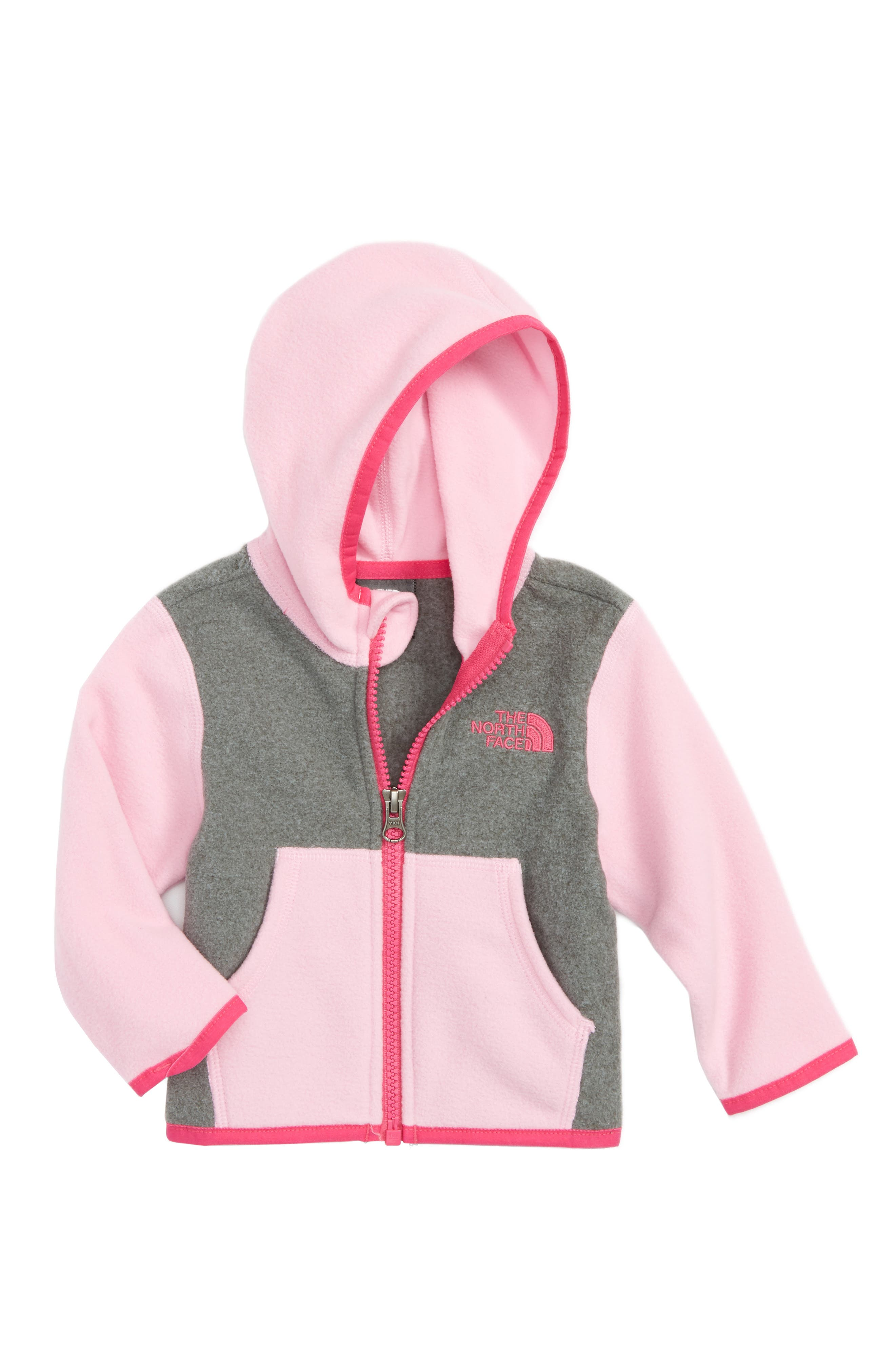 The North Face 'Glacier' Zip Hoodie (Baby Girls)