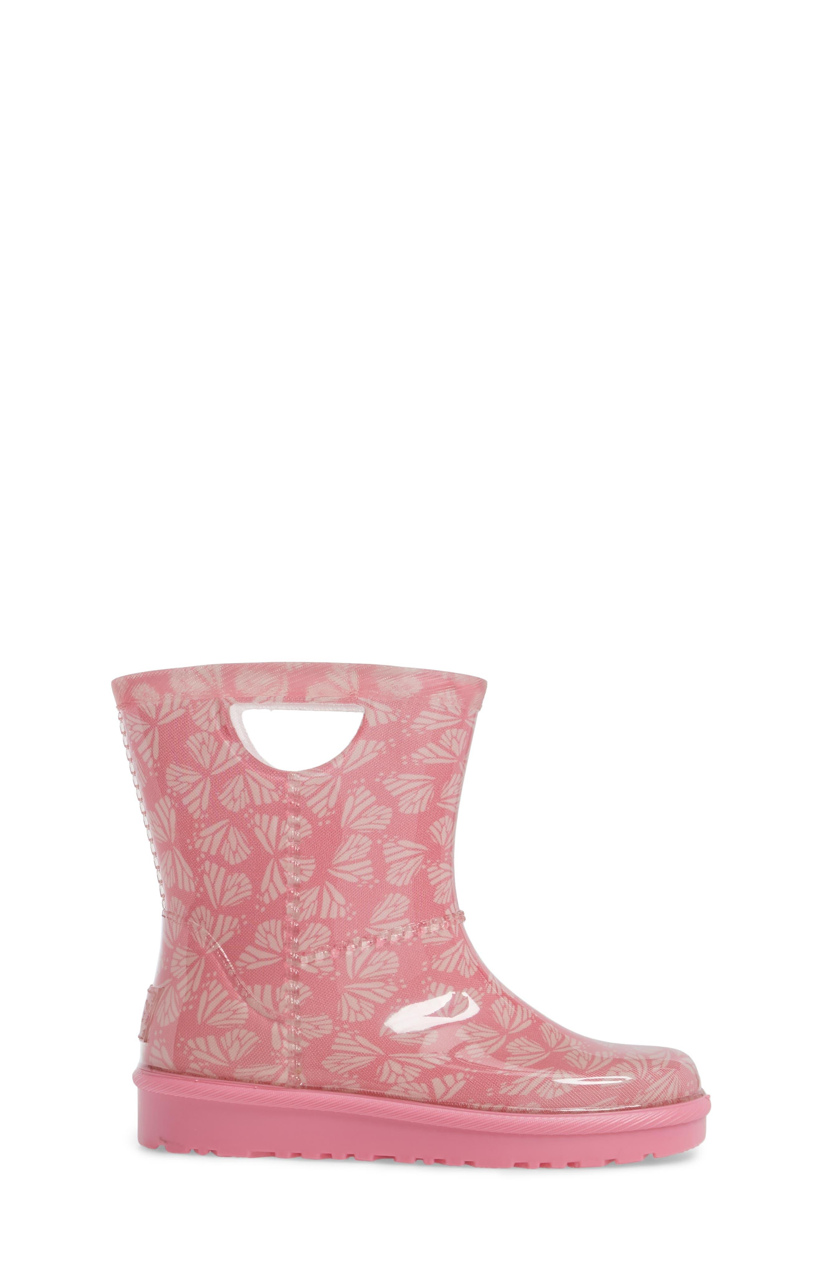 Rahjee Rain Boot,                             Alternate thumbnail 3, color,                             Pink Azalea