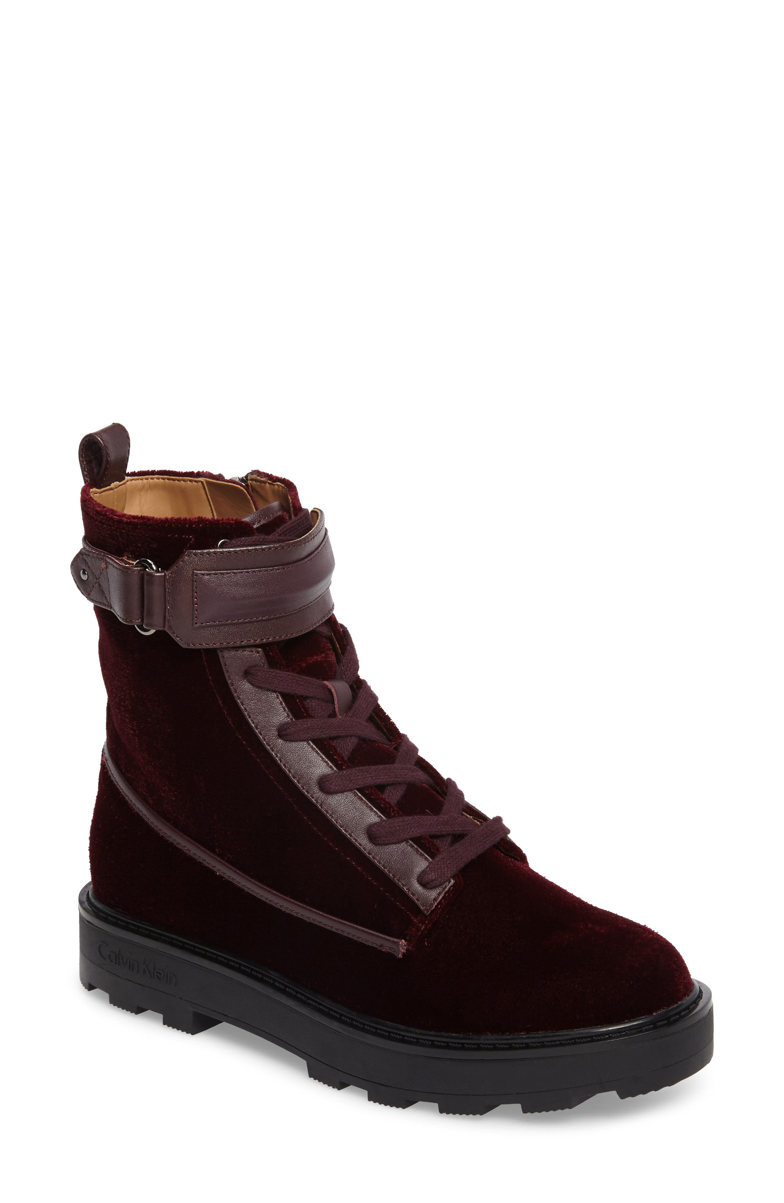 Vanora Boot,                             Main thumbnail 1, color,                             Burgundy Velvet