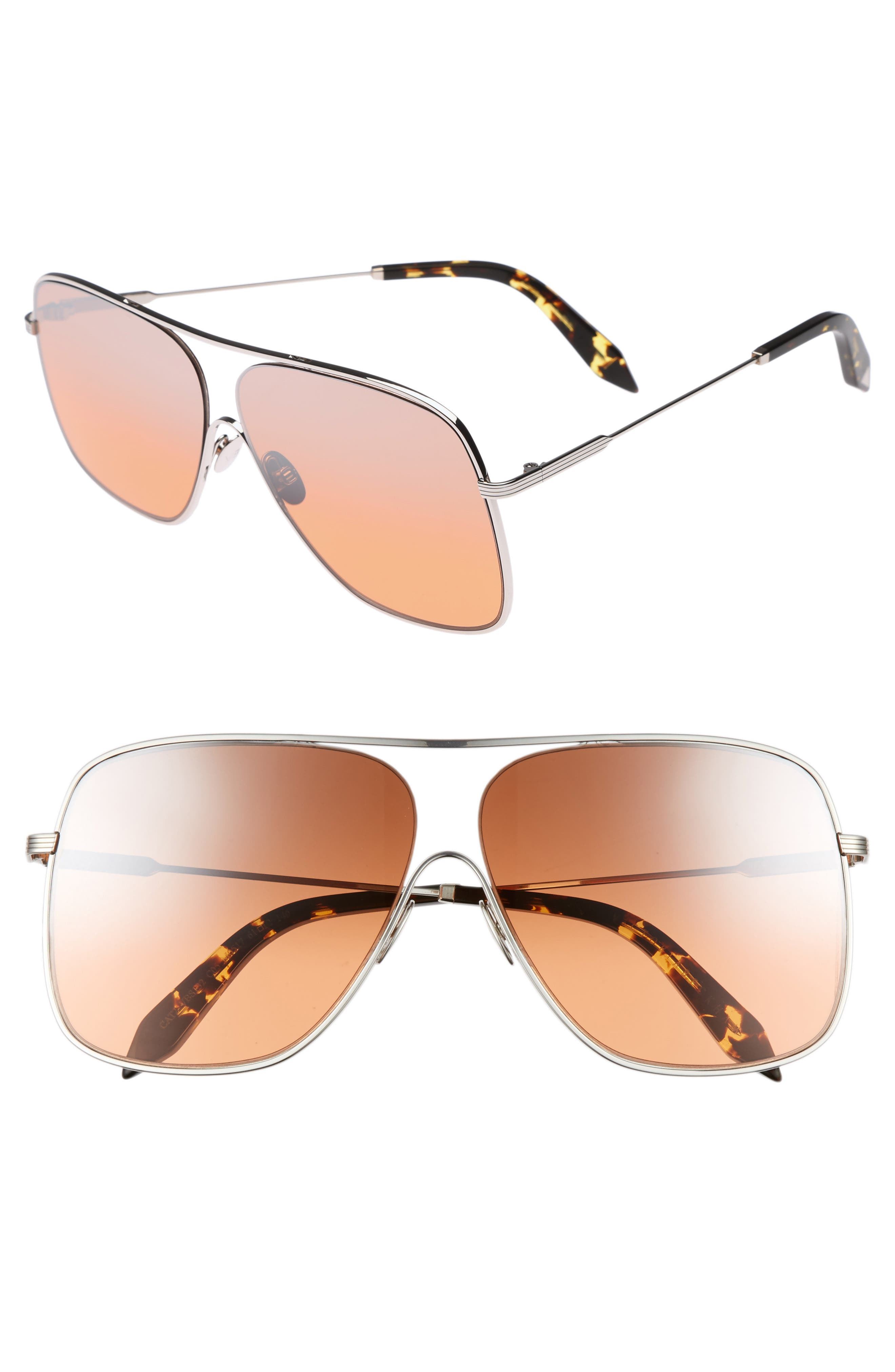 Alternate Image 1 Selected - Victoria Beckham Loop 61mm Navigator Sunglasses