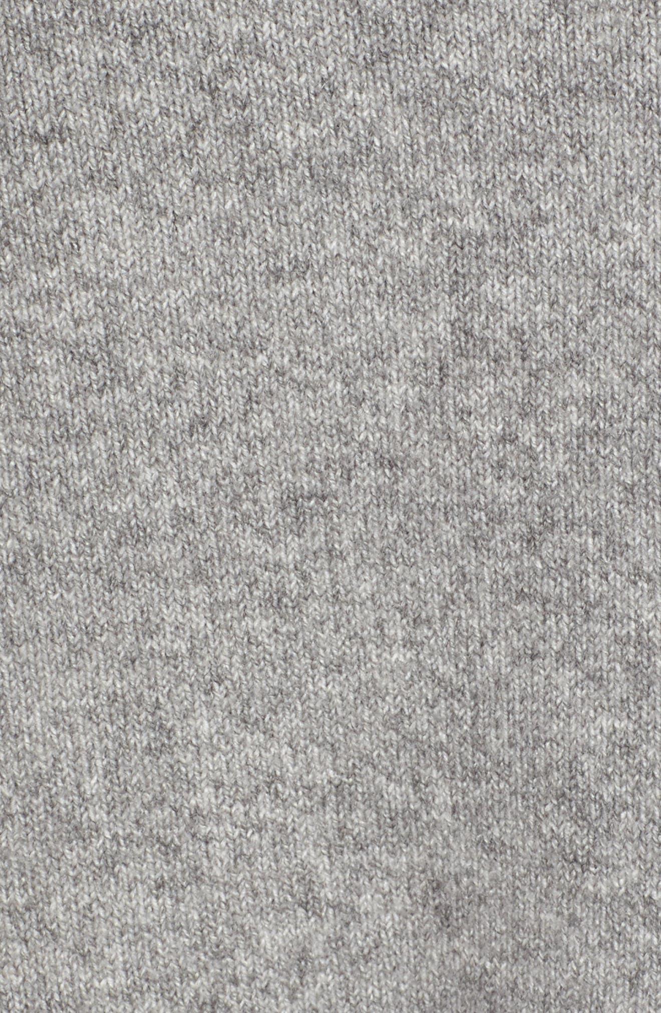 Flare Sleeve Track Jacket,                             Alternate thumbnail 5, color,                             Grey Heather