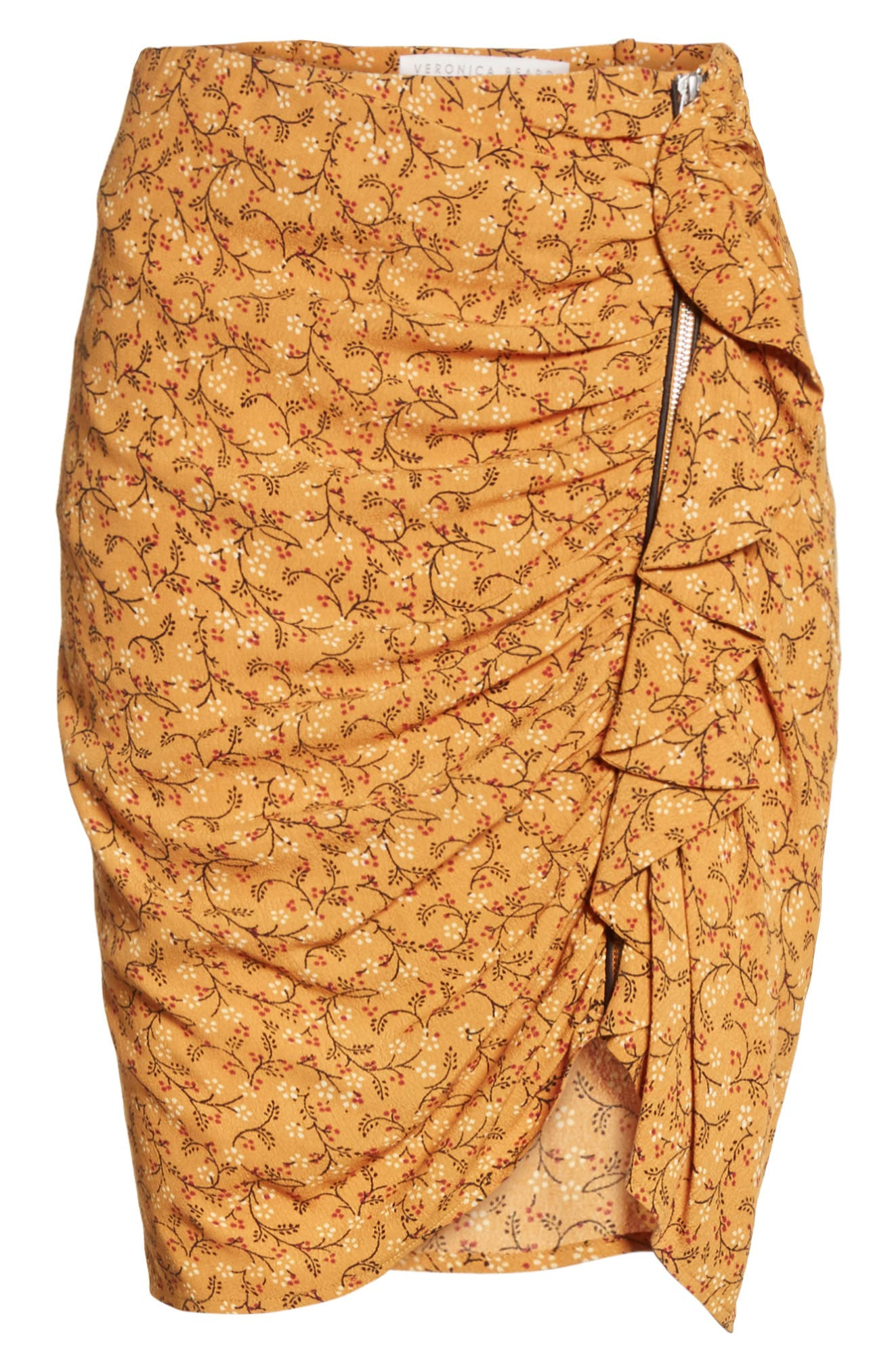 Veronica Beard Spencer Ruched Miniskirt