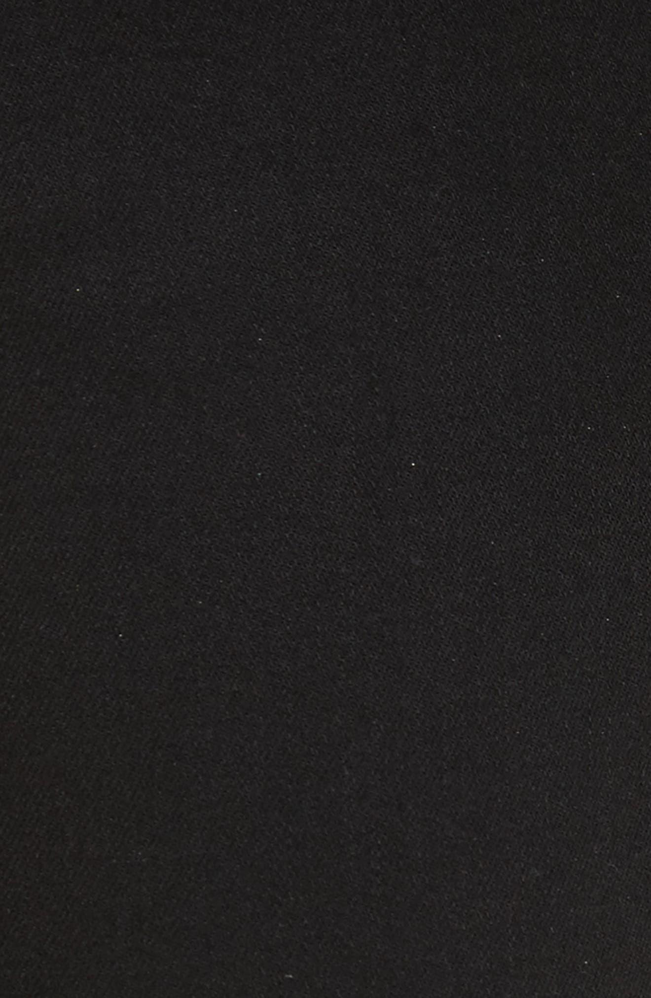 Katrina Ultra High Waist Skinny Jeans,                             Alternate thumbnail 5, color,                             Noir