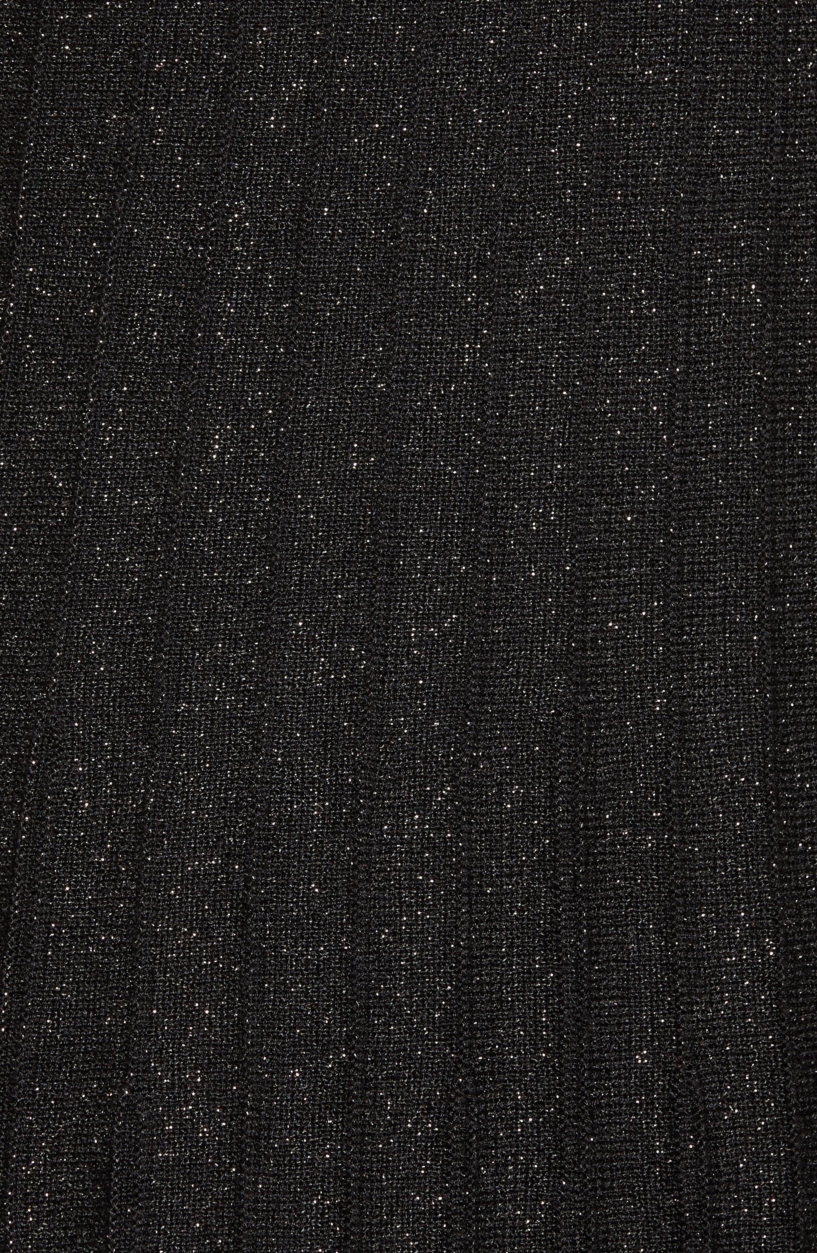 Luminary Pleated Midi Skirt,                             Alternate thumbnail 5, color,                             Black Mix
