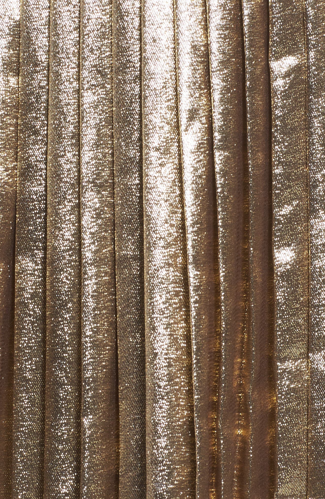 Alternate Image 5  - Lewit Pleated Metallic Skirt
