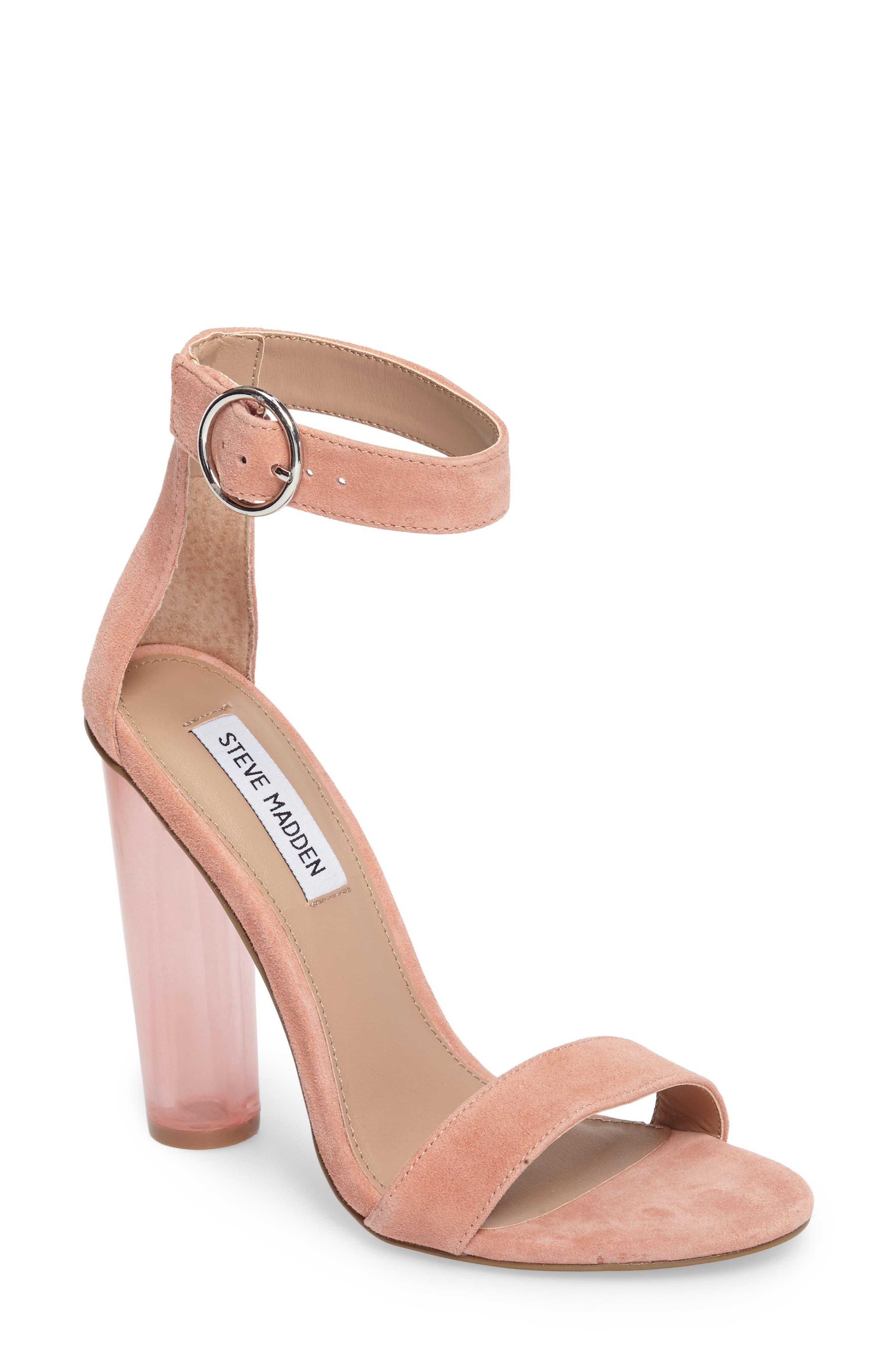 Teaser Sandal,                         Main,                         color, Coral Suede