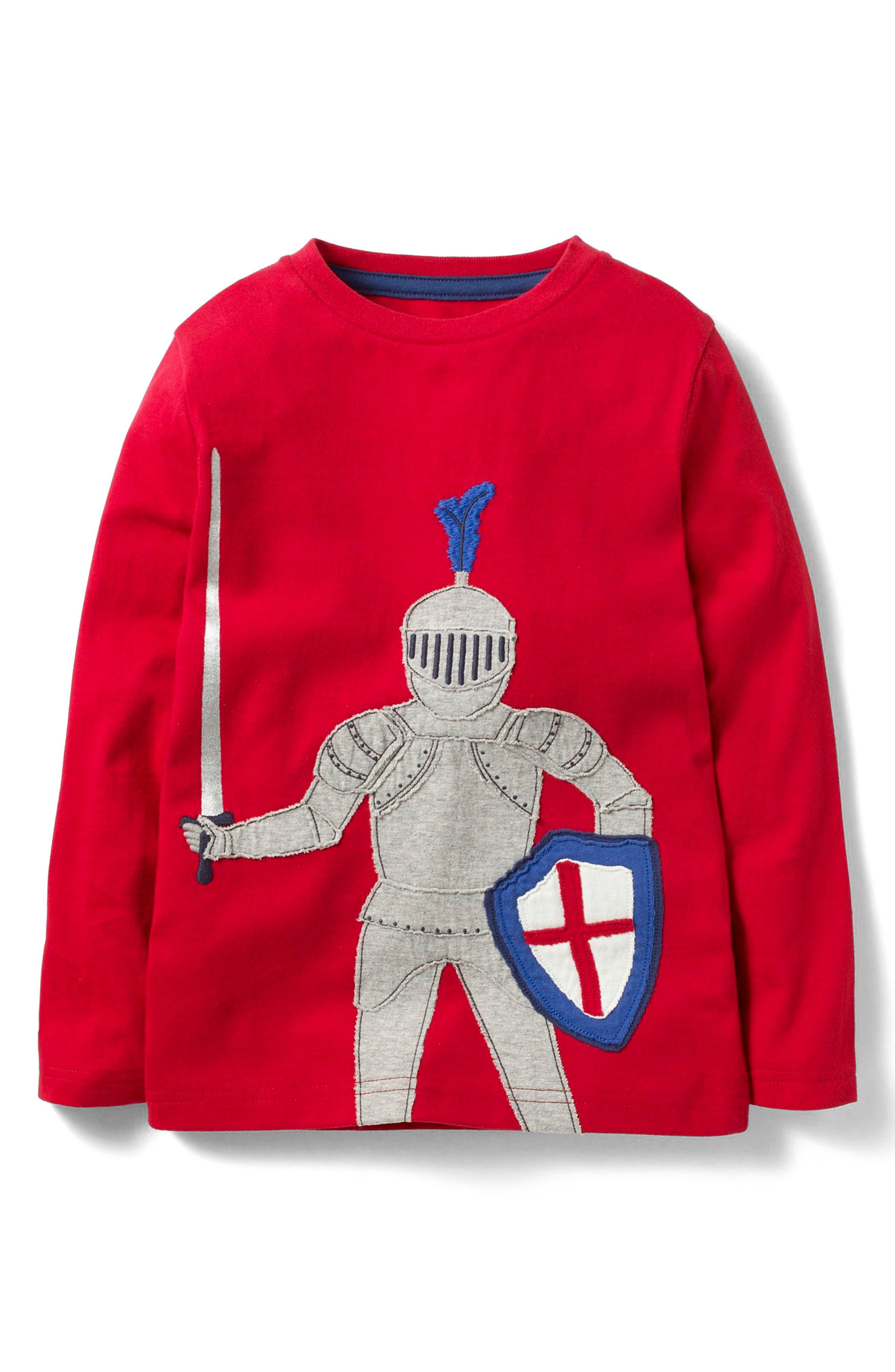 Mini Boden Knight Appliqué T-Shirt (Toddler Boys, Little Boys & Big Boys)