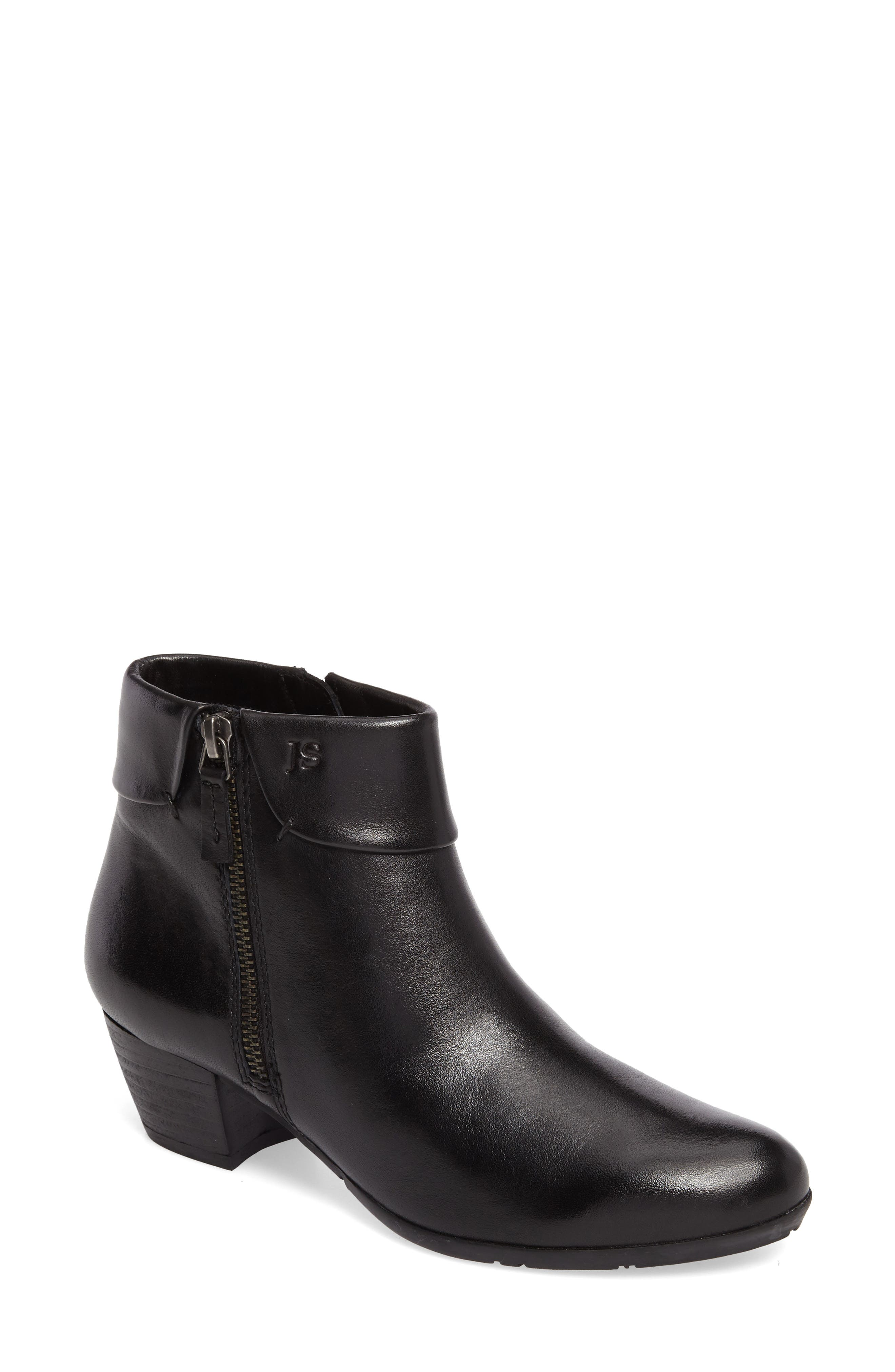 Sue 05 Bootie,                             Main thumbnail 1, color,                             Black Leather