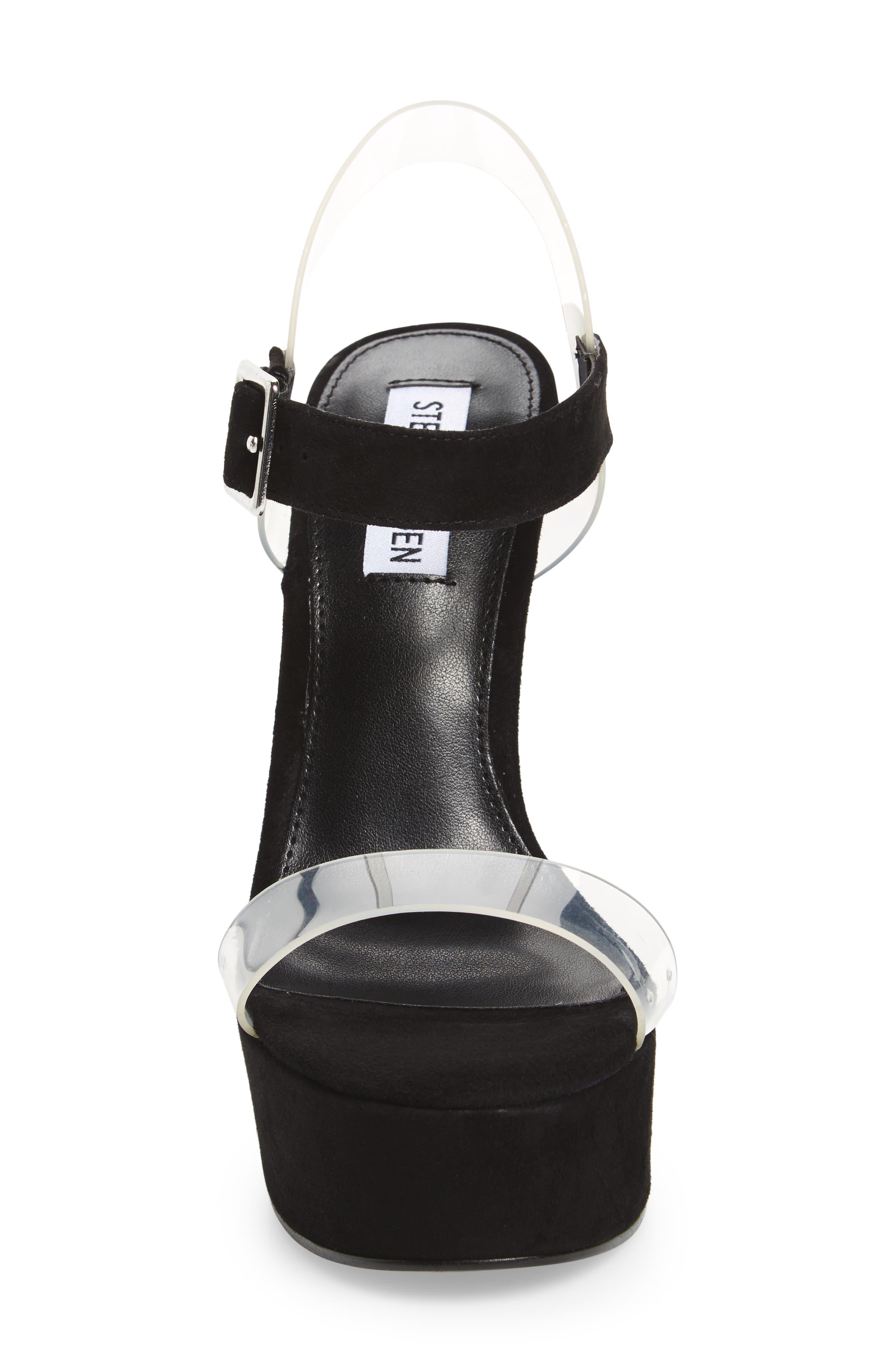 Glimmer Sandal,                             Alternate thumbnail 4, color,                             Black Suede