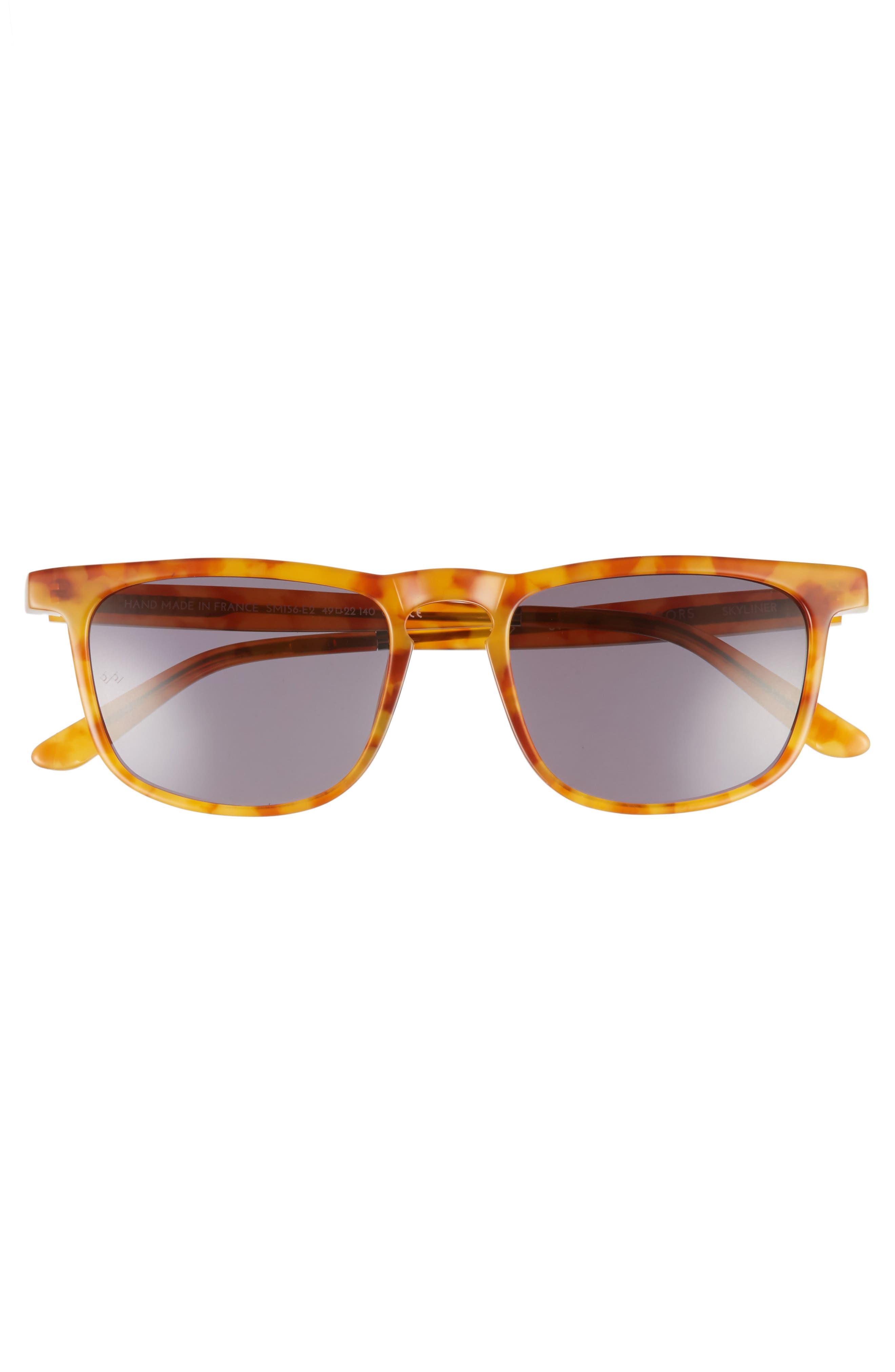 Skyliner 49mm Sunglasses,                             Alternate thumbnail 2, color,                             Ginger Tortoise/ Green