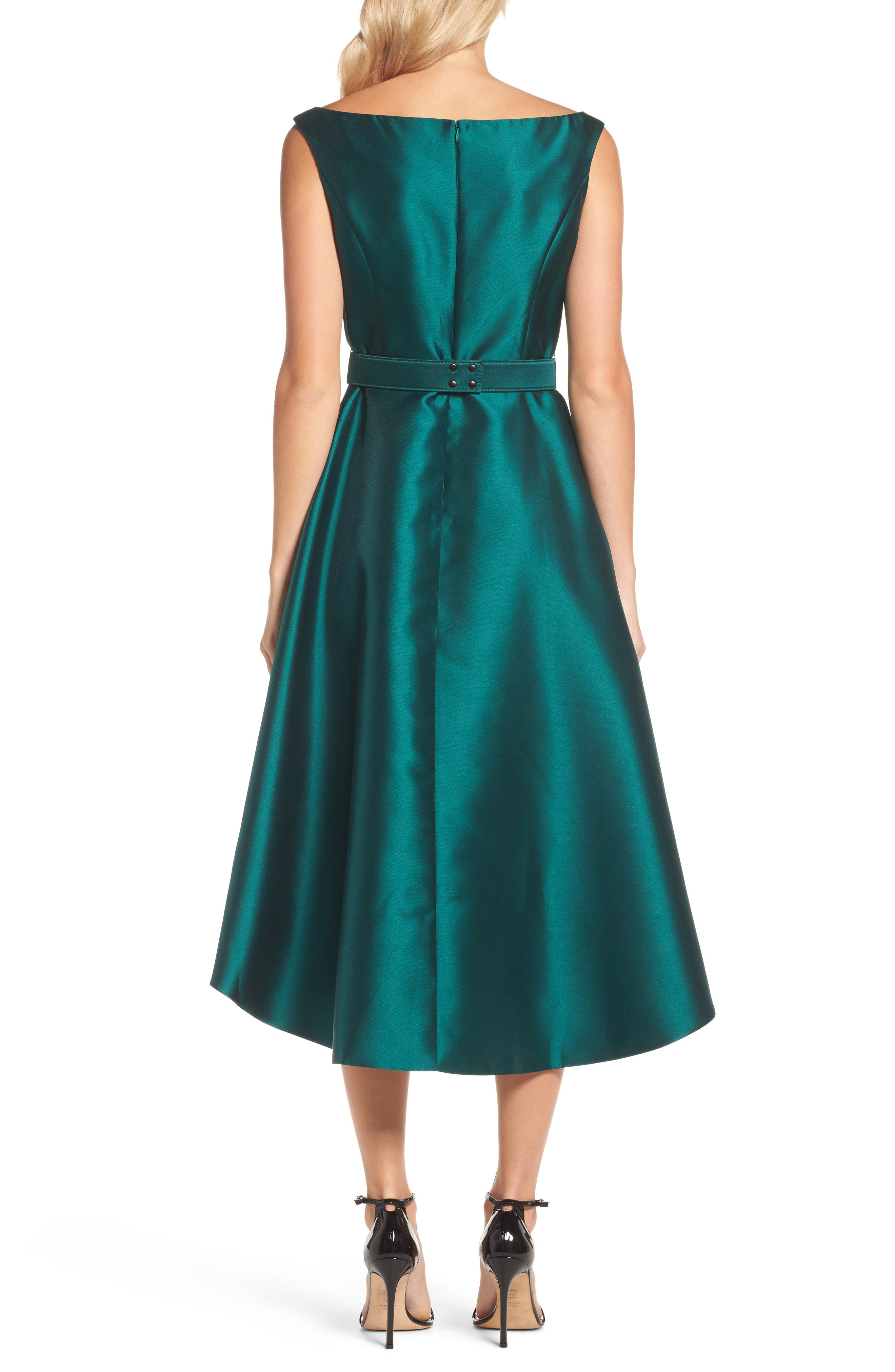 Embellished High/Low Dress,                             Alternate thumbnail 2, color,                             Emerald
