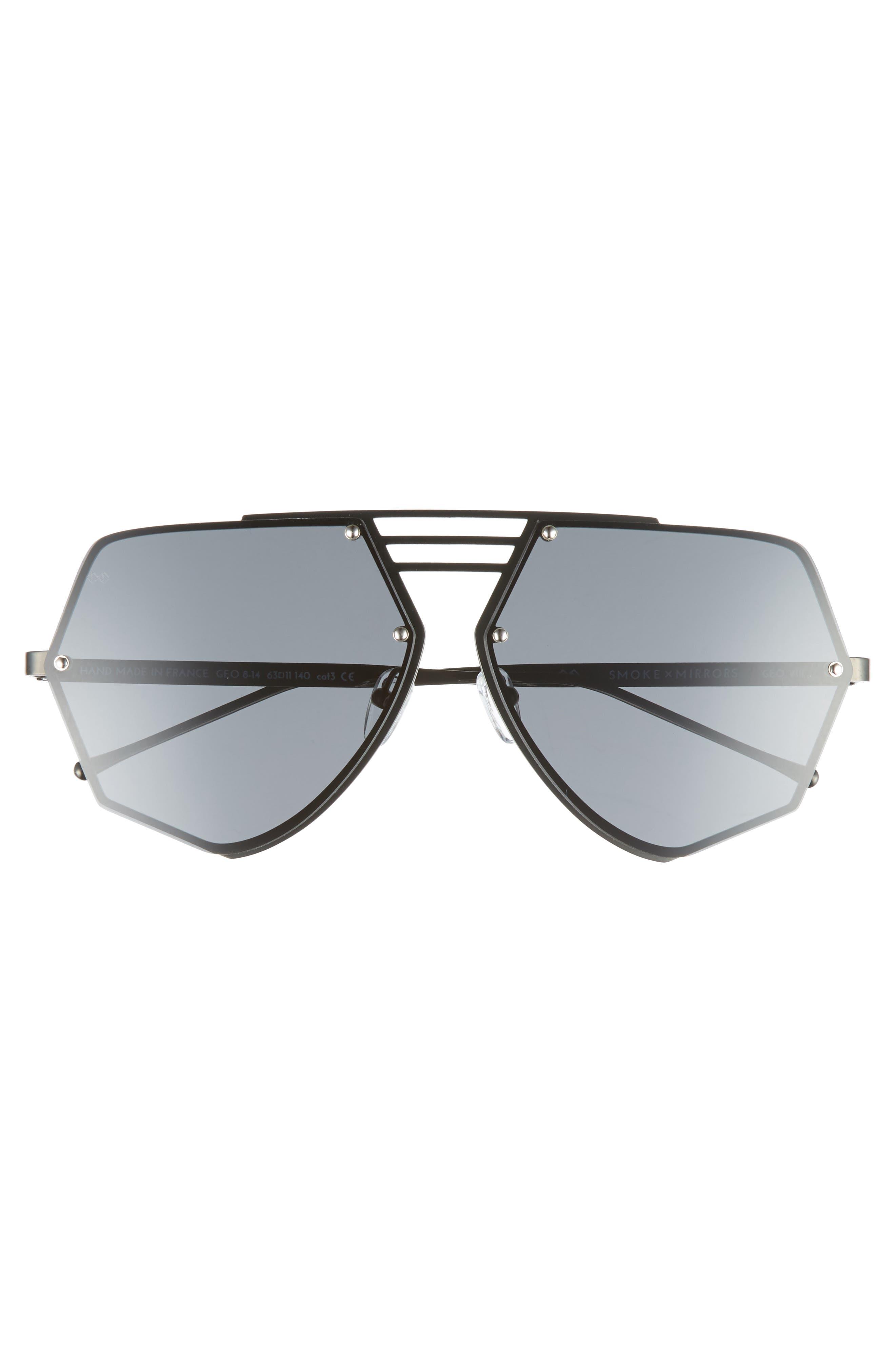 Geo VIII 63mm Sunglasses,                             Alternate thumbnail 2, color,                             Dark Gunmetal/ Dark Grey