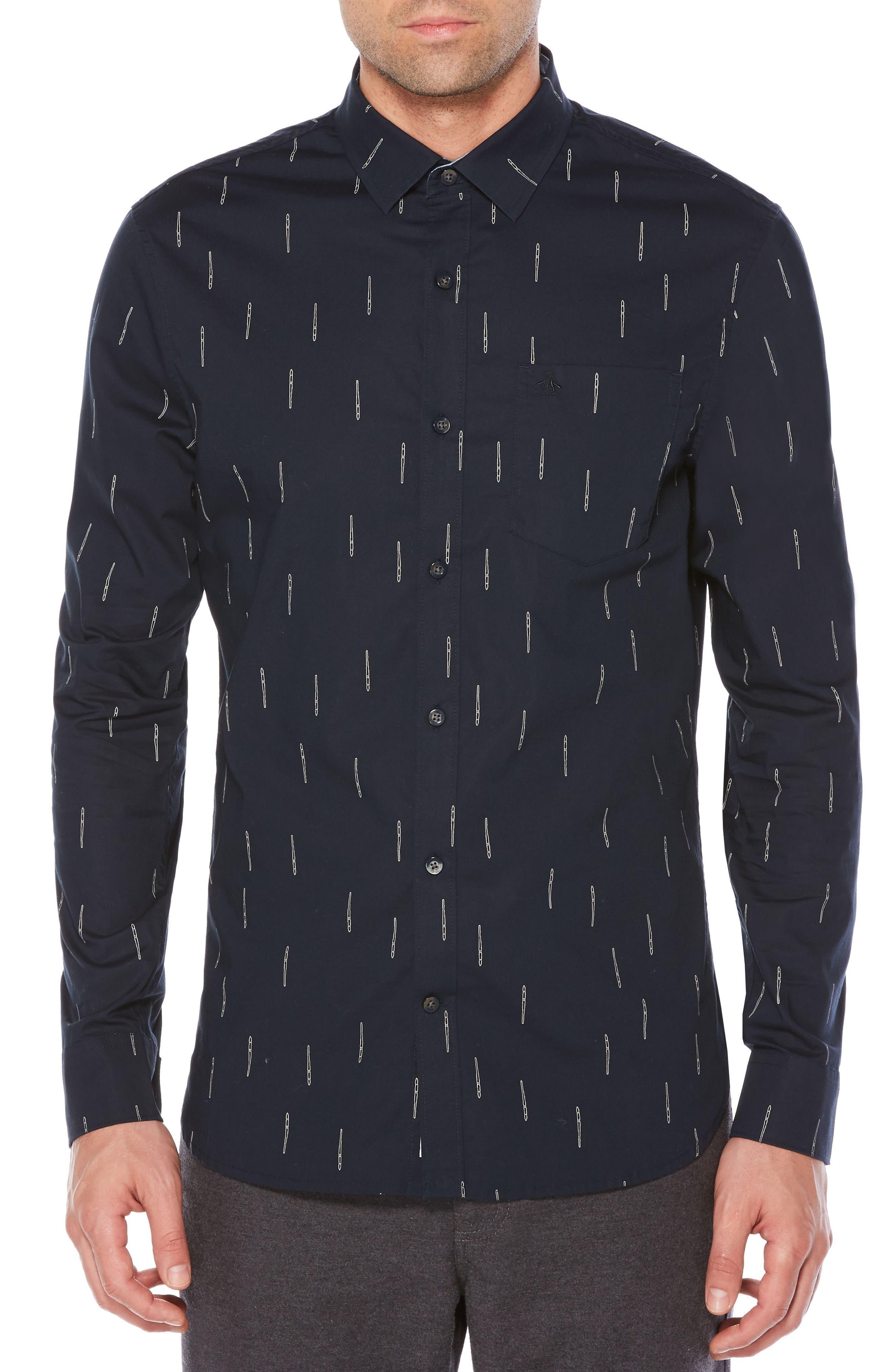 Main Image - Original Penguin Paintbrush Slim Shirt