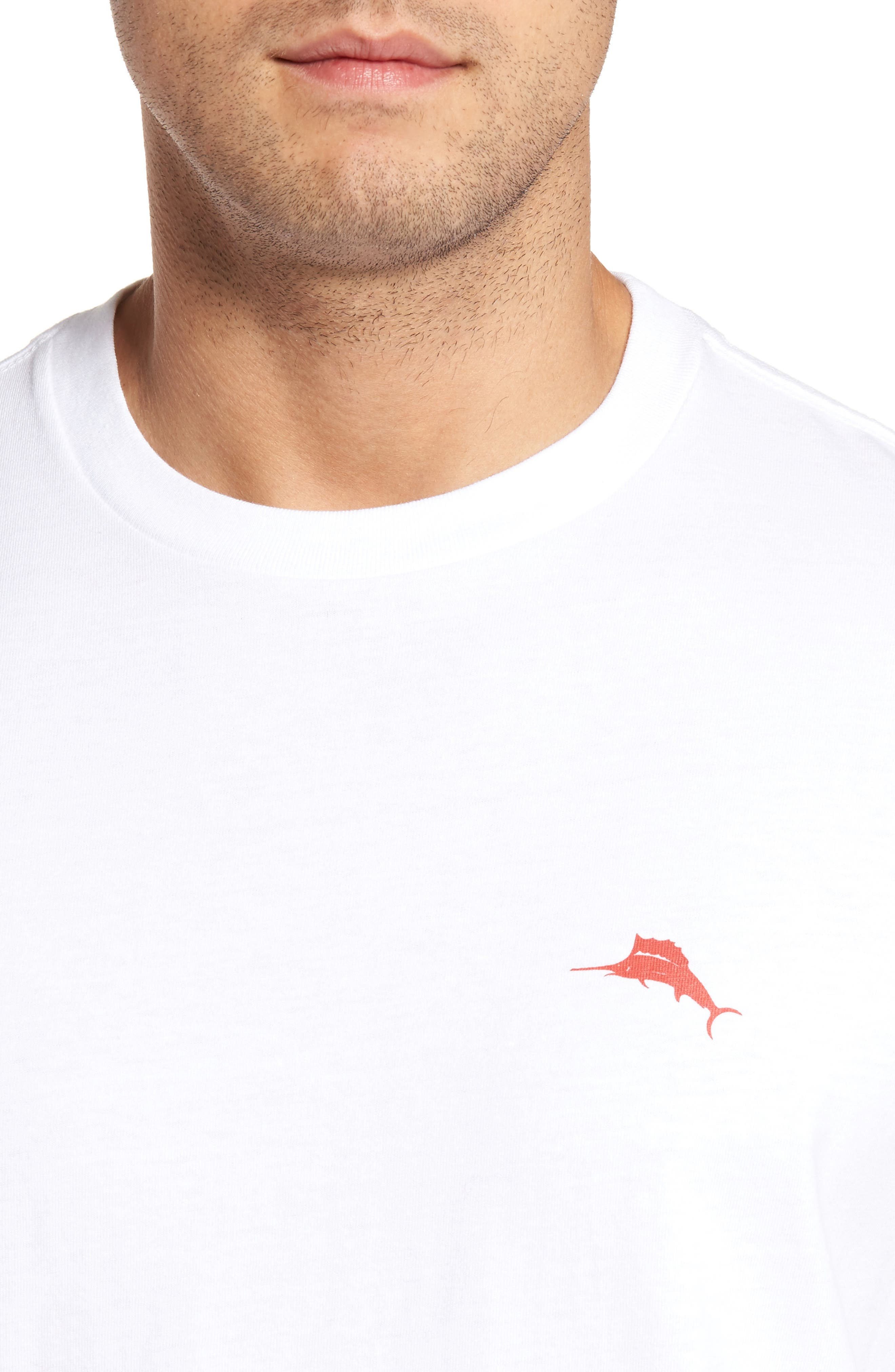 Rum Rum Rudolph T-Shirt,                             Alternate thumbnail 4, color,                             White