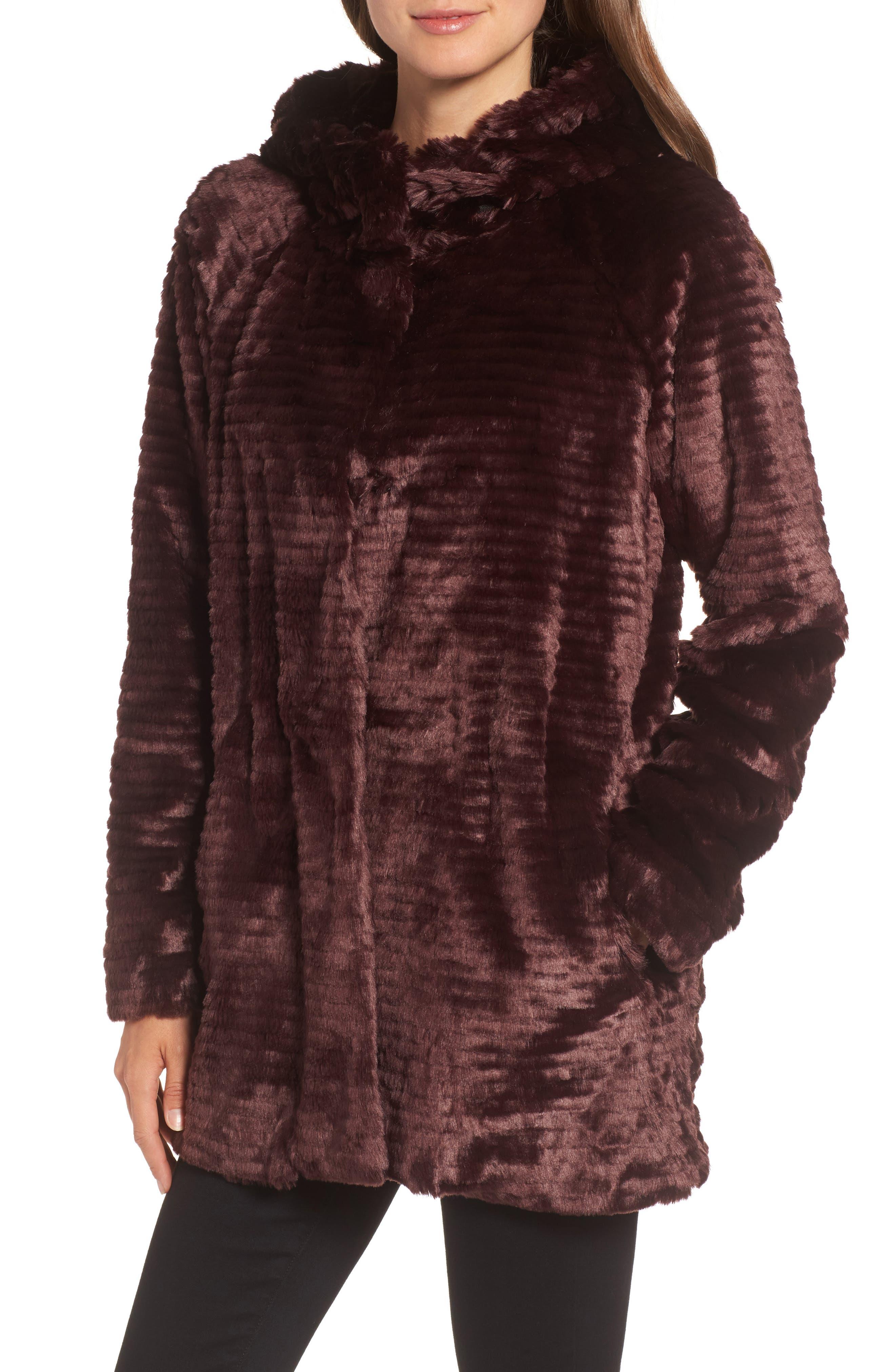Alternate Image 4  - Vince Camuto Hooded Faux Fur Coat