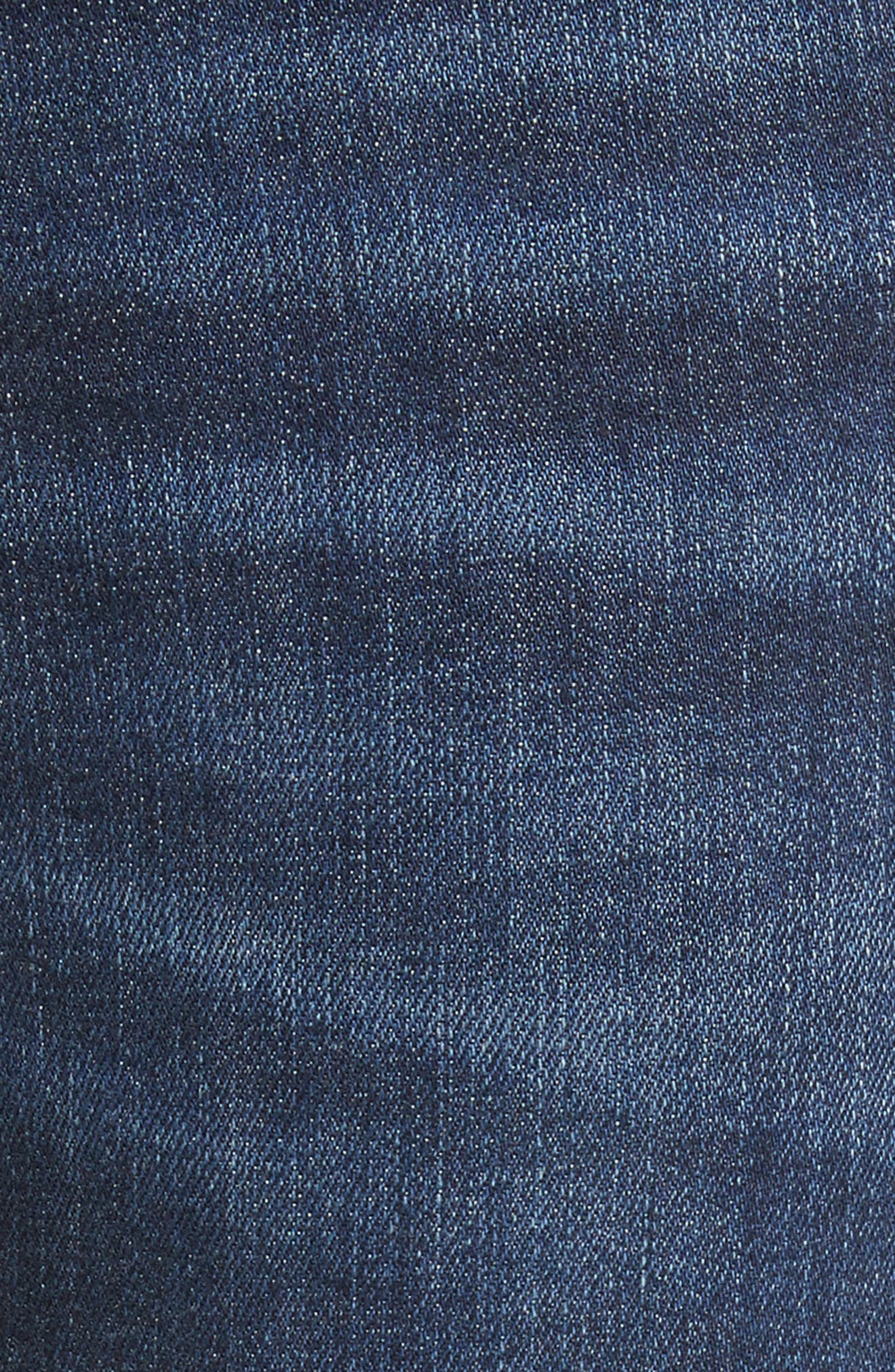 Ankle Skinny Jeans,                             Alternate thumbnail 5, color,                             Indigo Raven With Release Hem