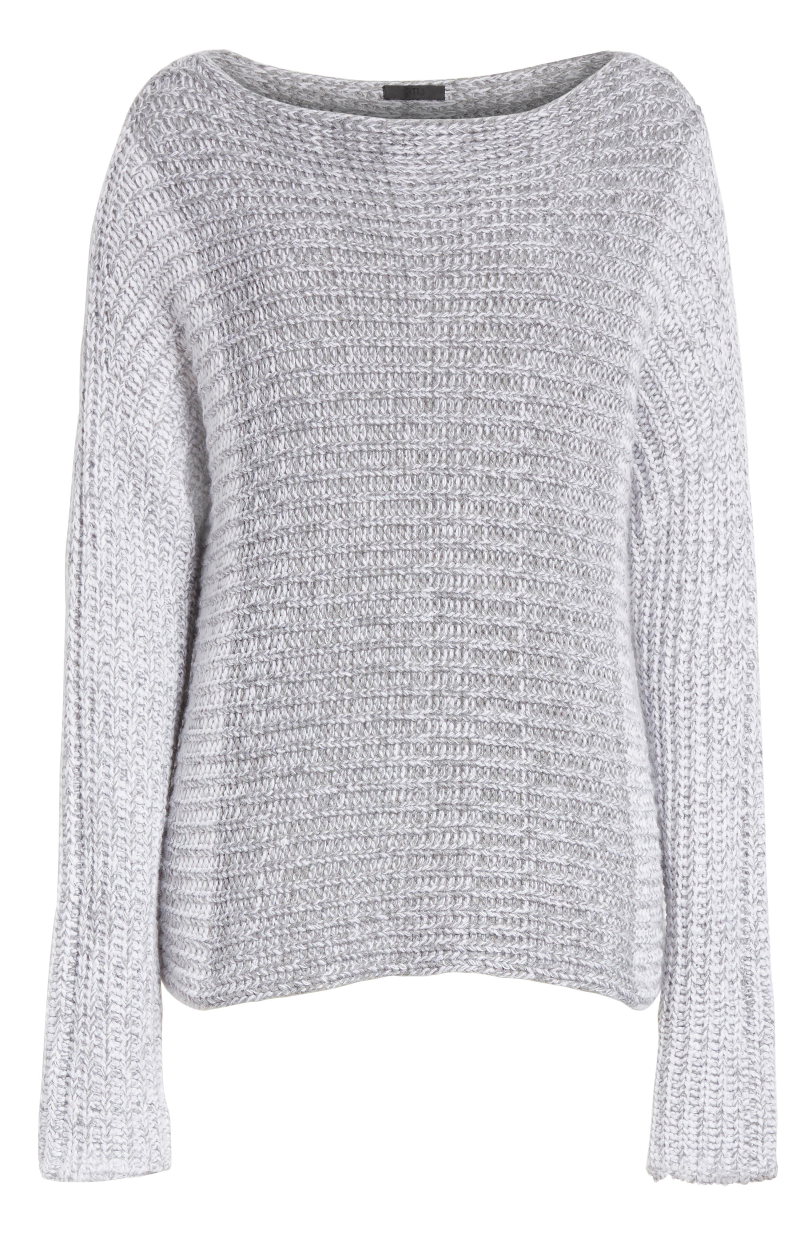 Colorblock Sweater,                             Alternate thumbnail 6, color,                             Grey