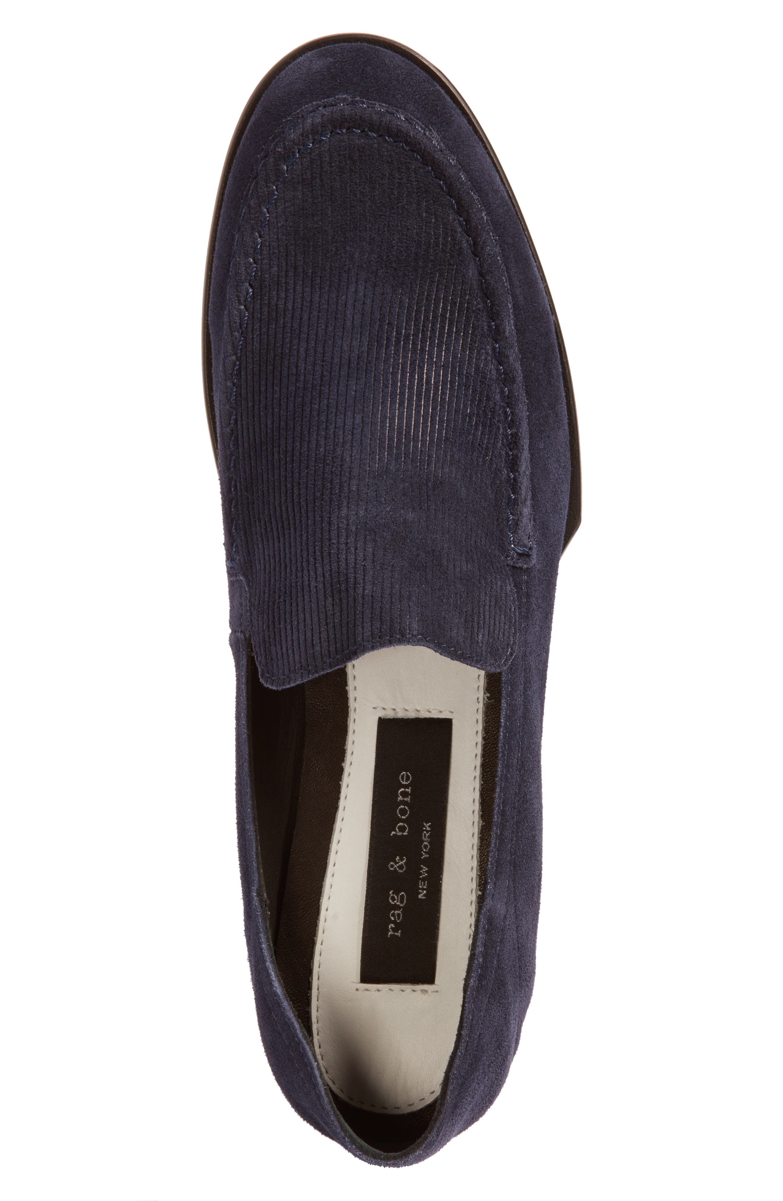 Alix Convertible Loafer,                             Alternate thumbnail 6, color,                             Navy Suede
