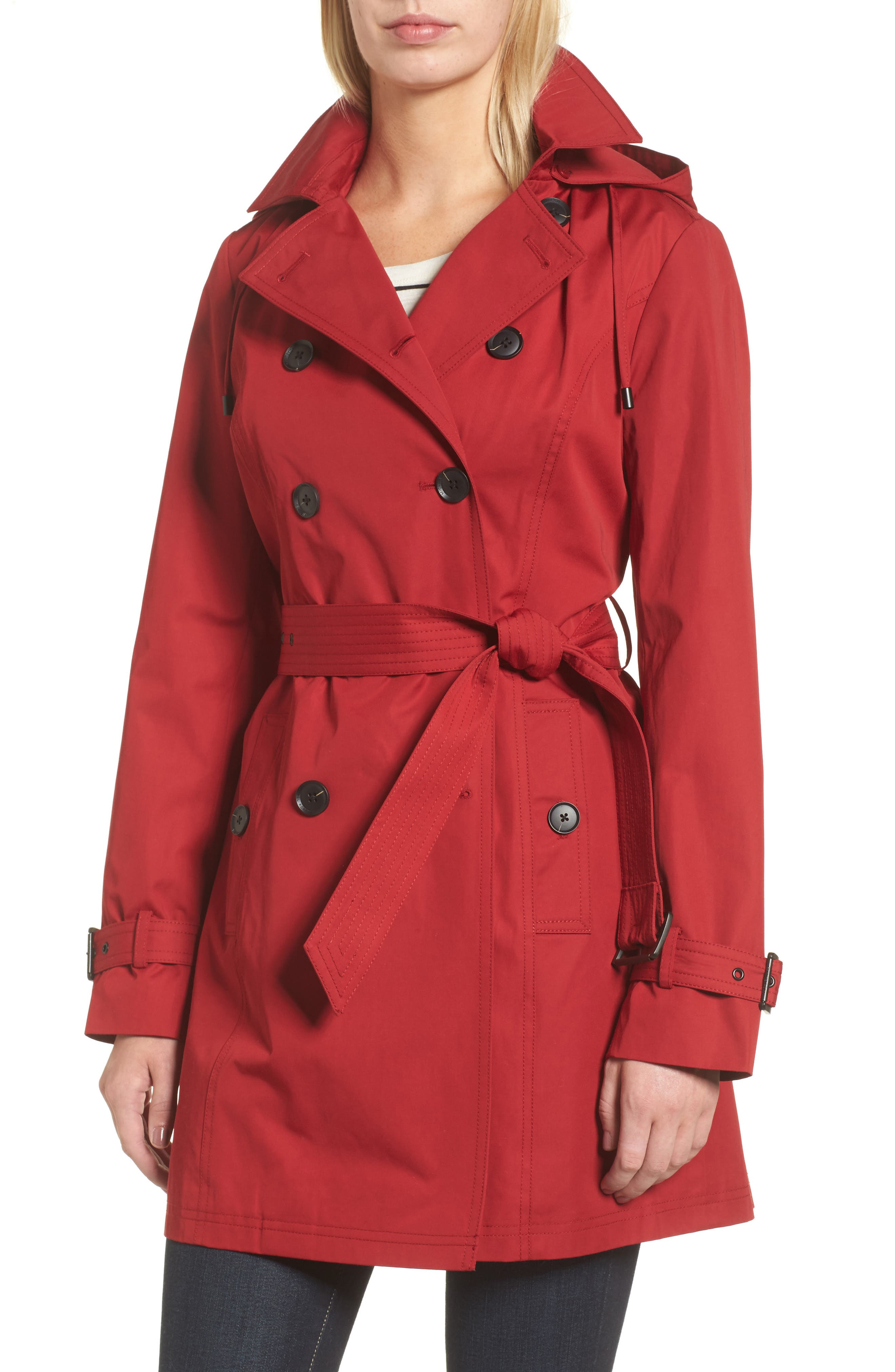 MICHAEL Michael Kors Belted Parka Jacket (Regular & Petite)