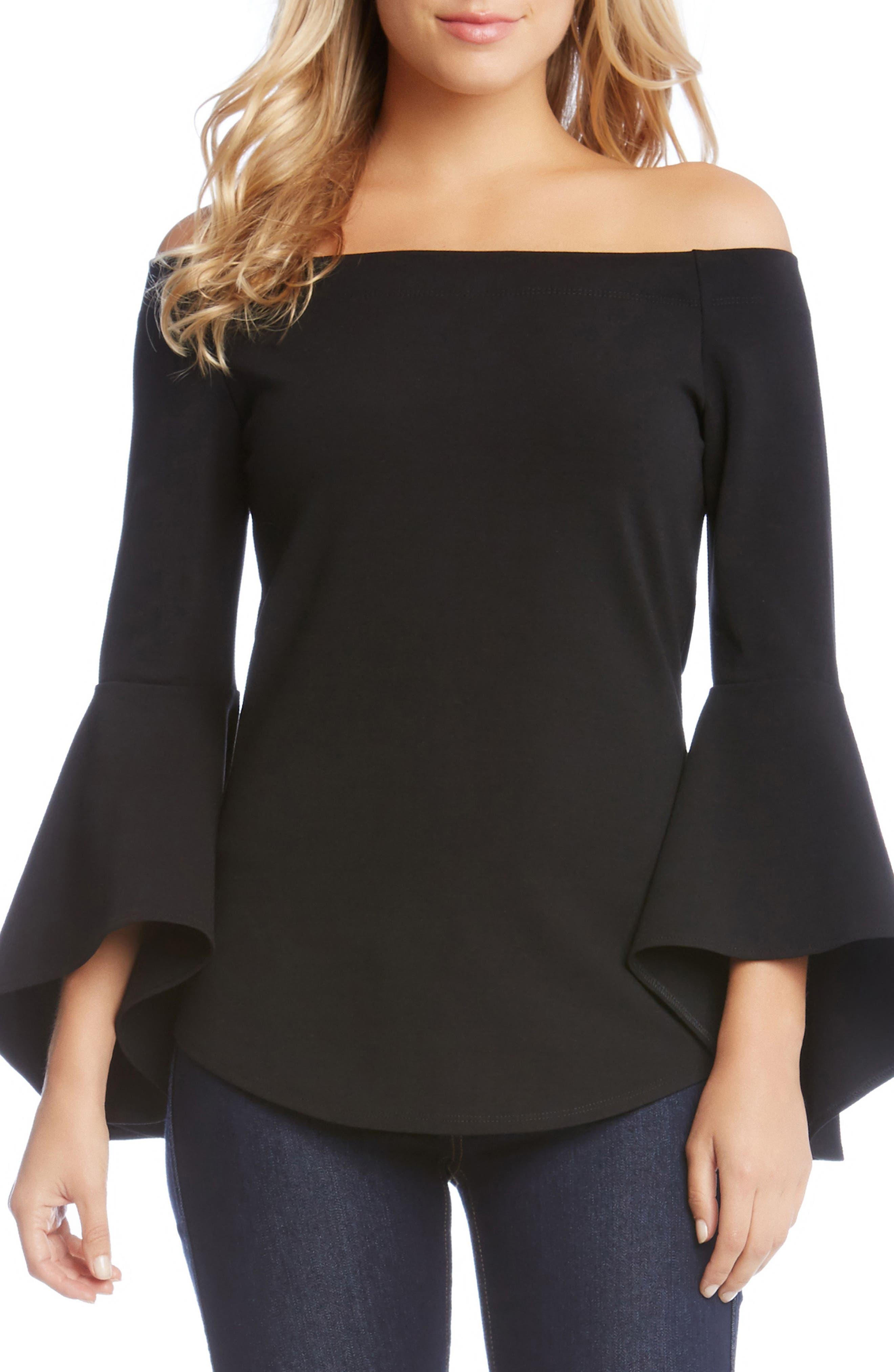 Karen Kane Bell Sleeve Top