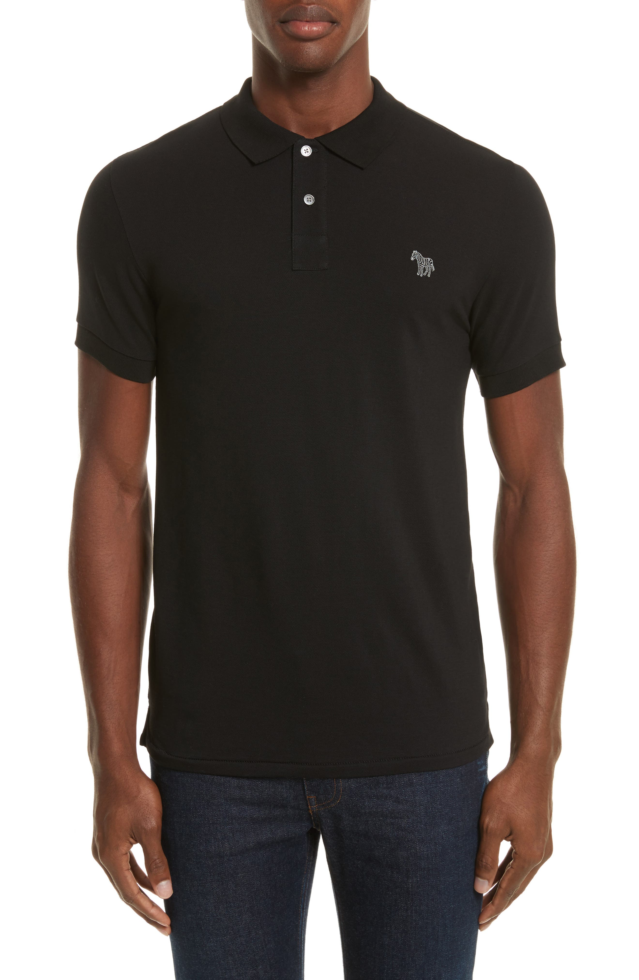 PS Paul Smith Slim Fit Zebra Polo