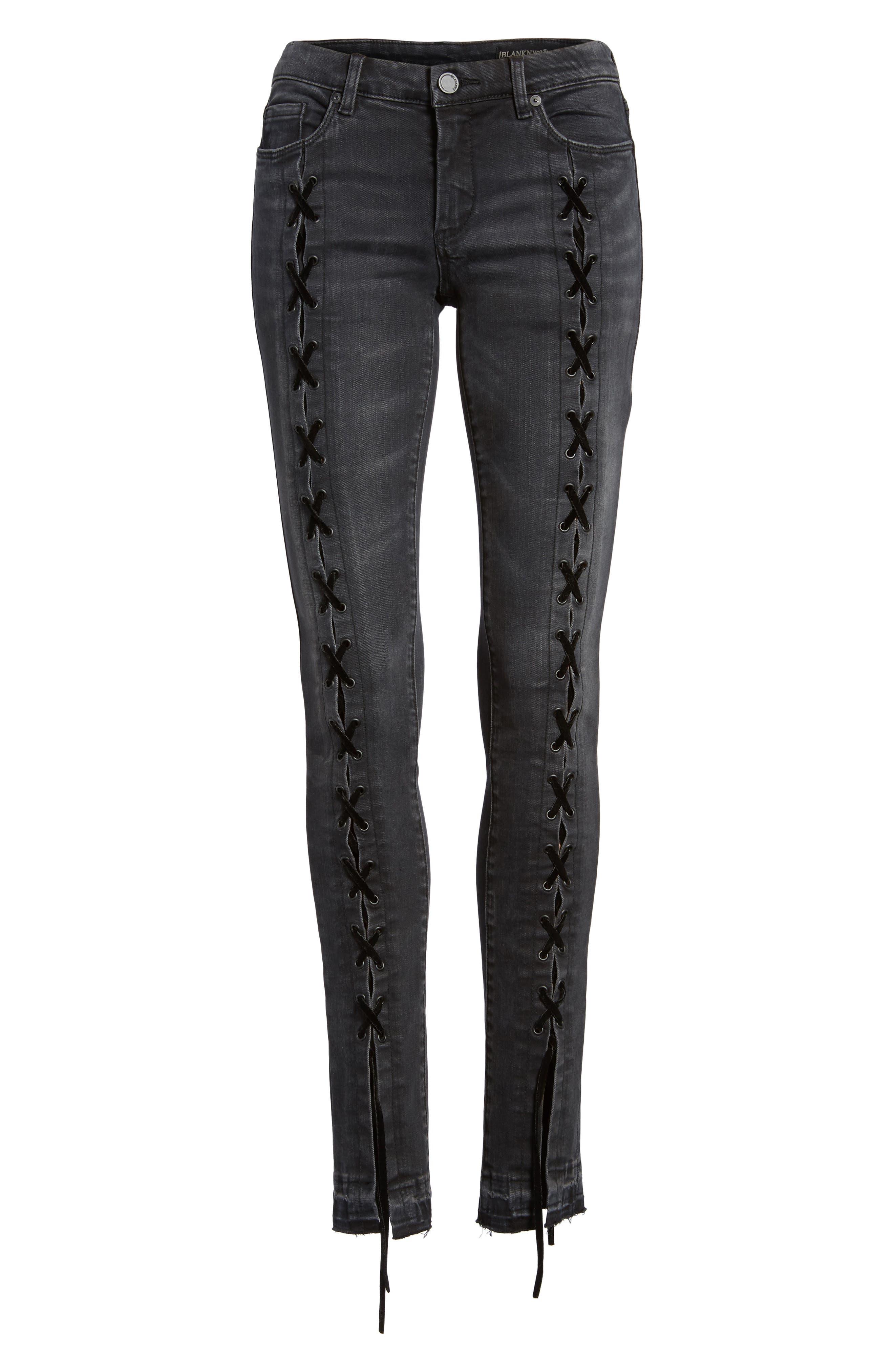 Alternate Image 5  - BLANKNYC Crash Tactics Lace Up Skinny Jeans