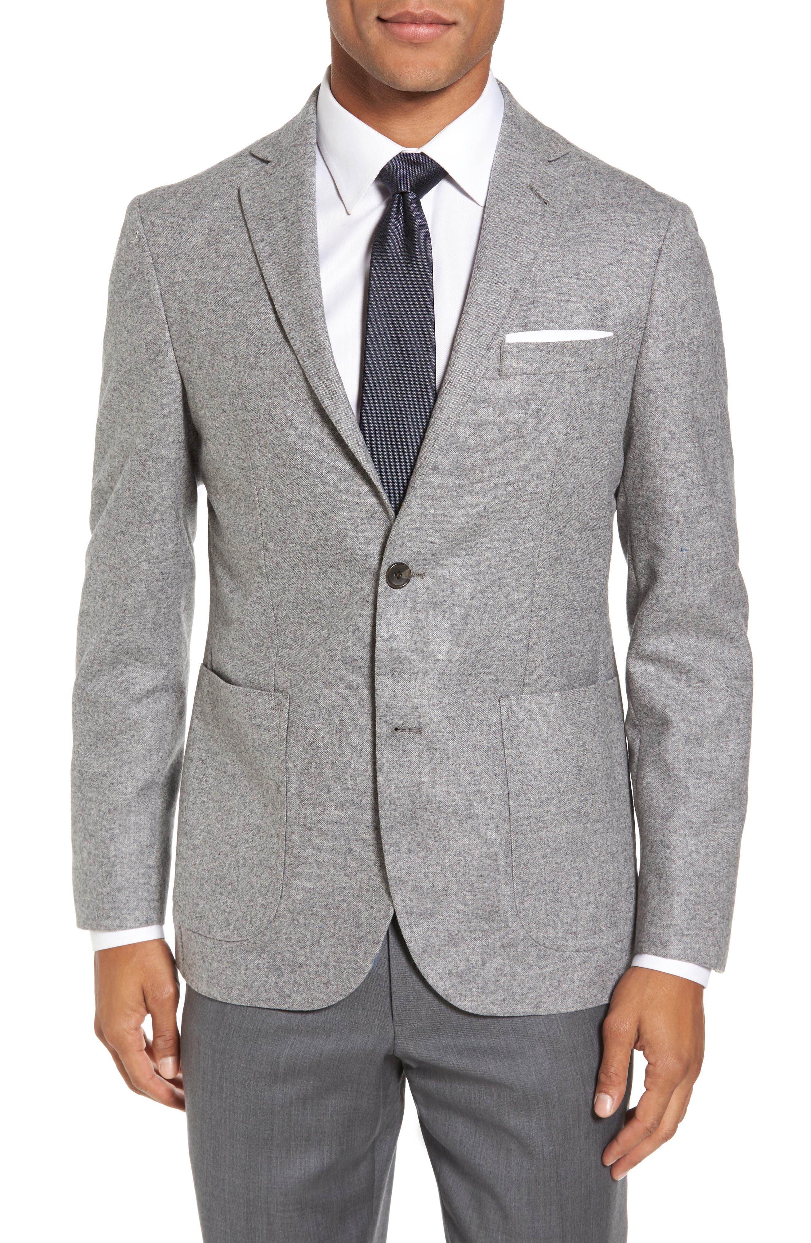 Strong Suit Vantage Trim Fit Wool & Silk Blazer