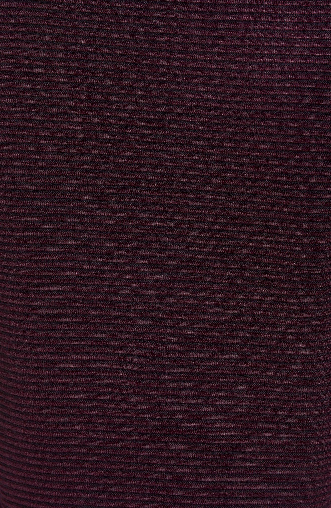Cashoo Slim Fit Ribbed Sweatshirt,                             Alternate thumbnail 5, color,                             Purple
