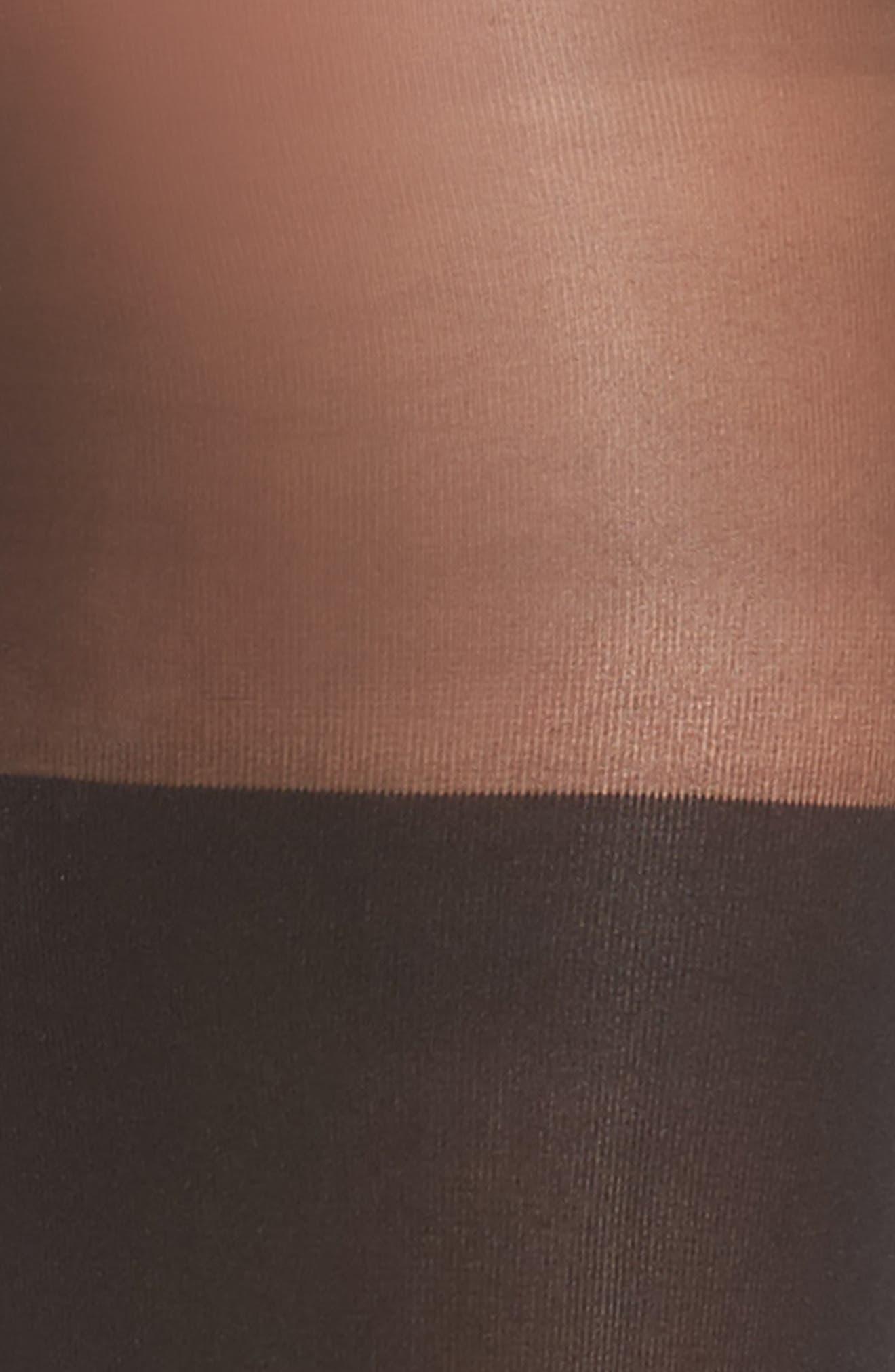 Alternate Image 2  - DKNY Illusion Thigh High Pantyhose
