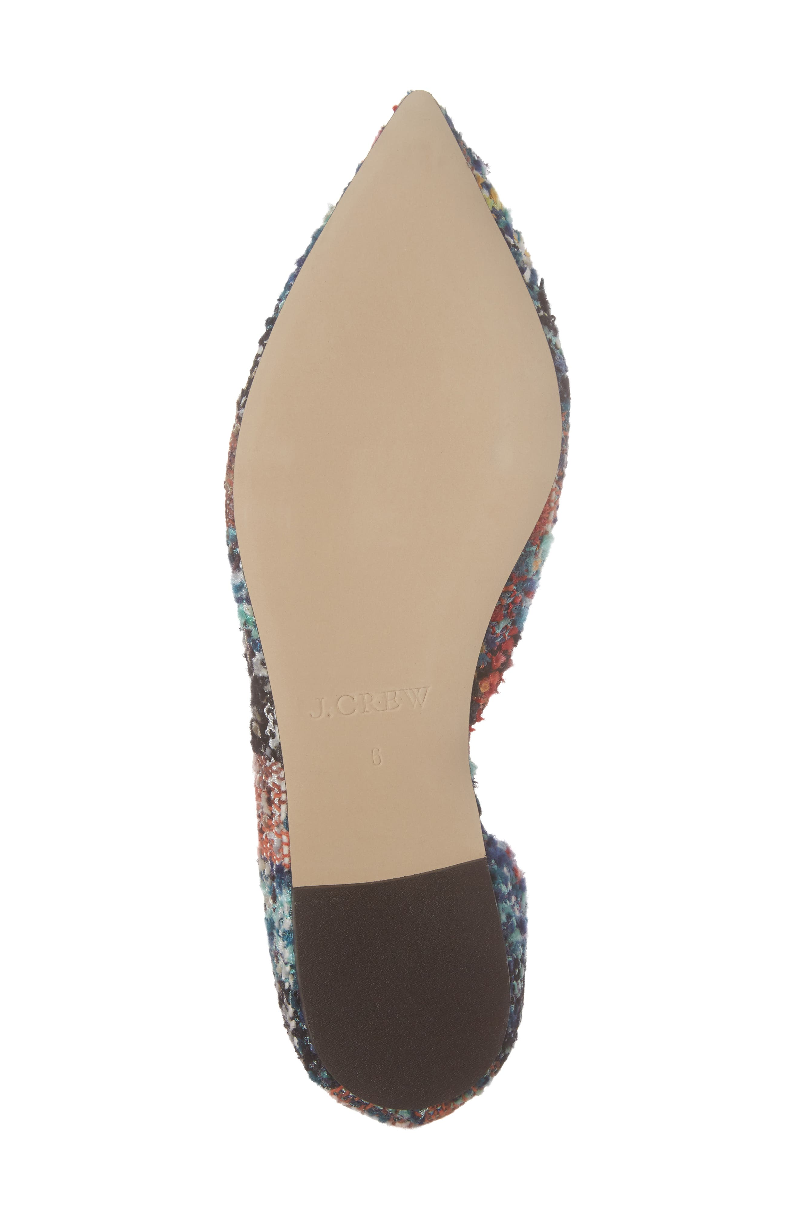 Sadie Pointy Toe Flat,                             Alternate thumbnail 7, color,                             Sundrenched Spearmint Fabric