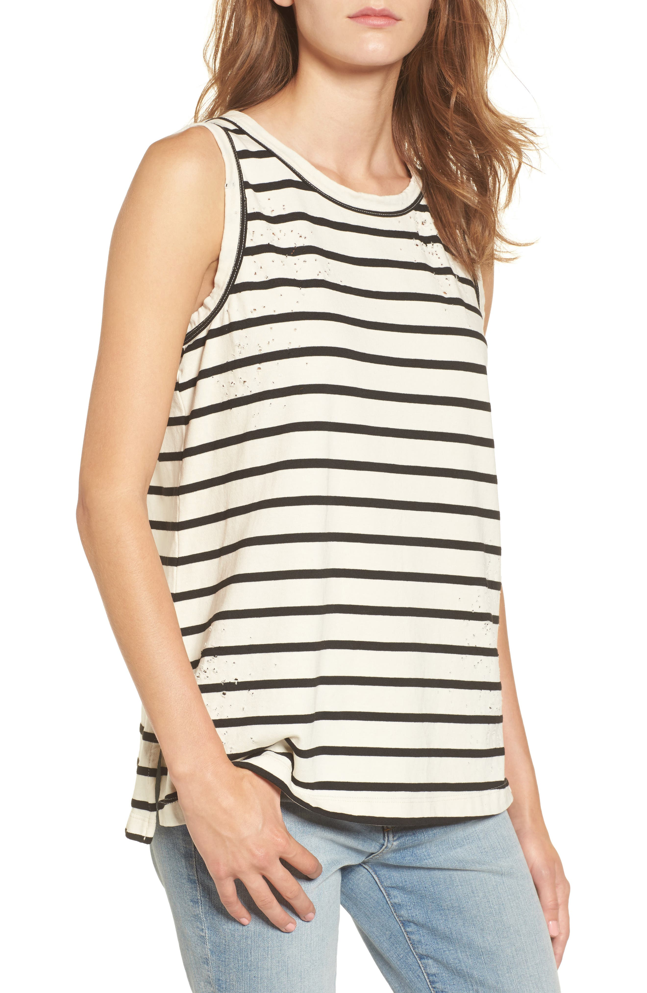 The Muscle Tank,                         Main,                         color, Black/ White Destroy