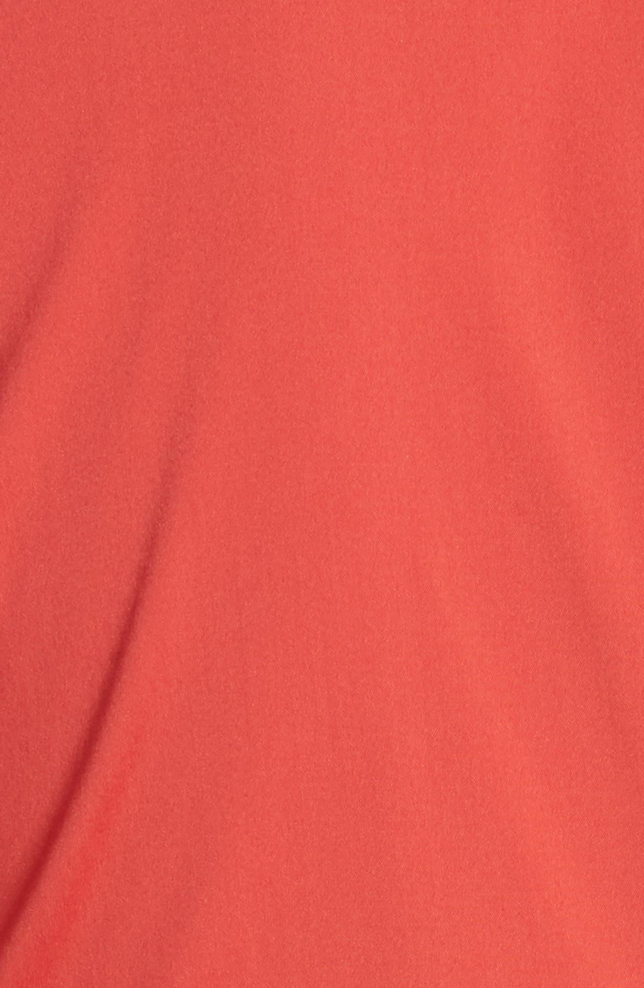 Mariel Knotted Shirtdress,                             Alternate thumbnail 6, color,                             Salsa