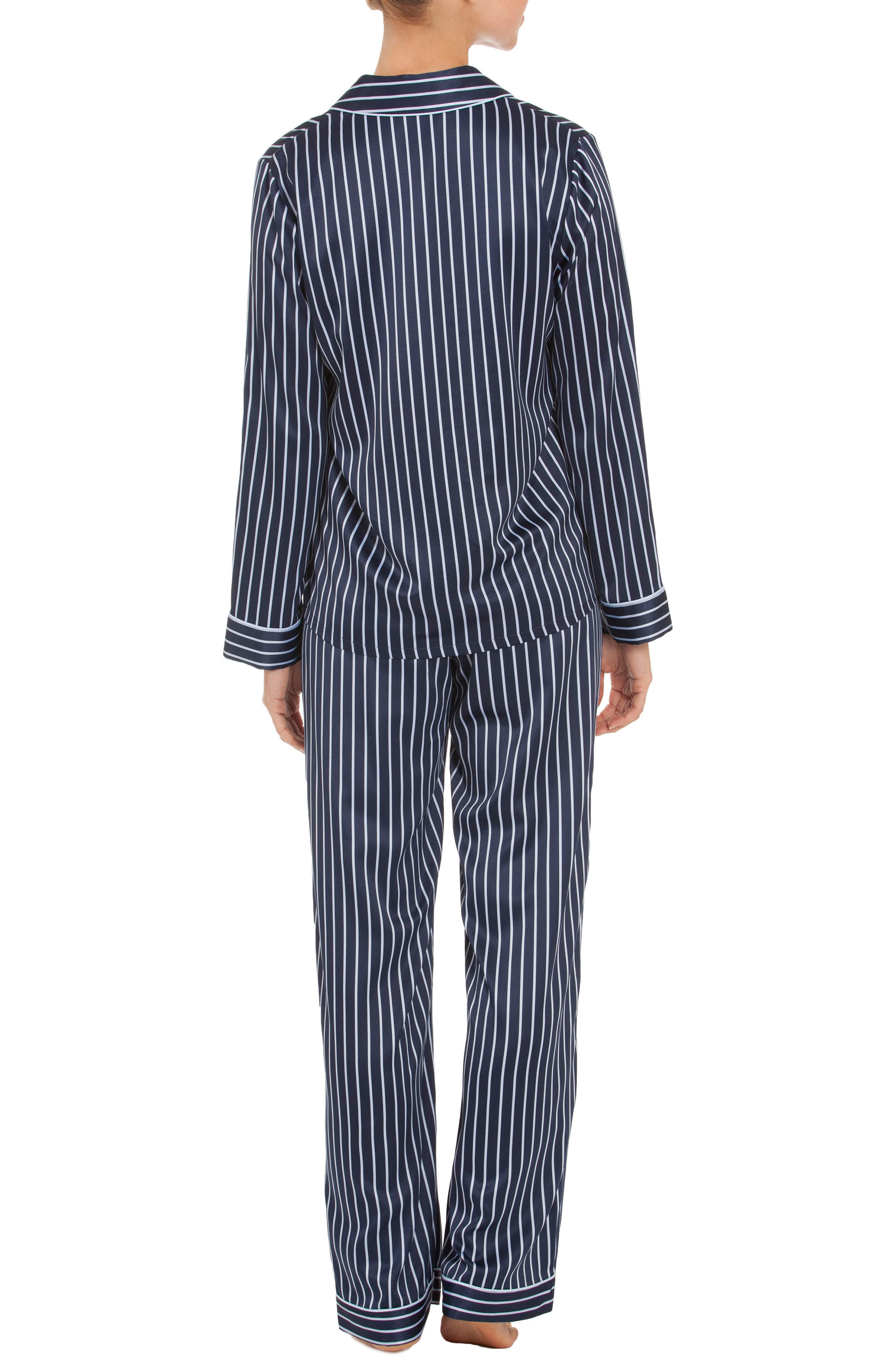 Pajamas,                             Alternate thumbnail 2, color,                             Navy Stripe