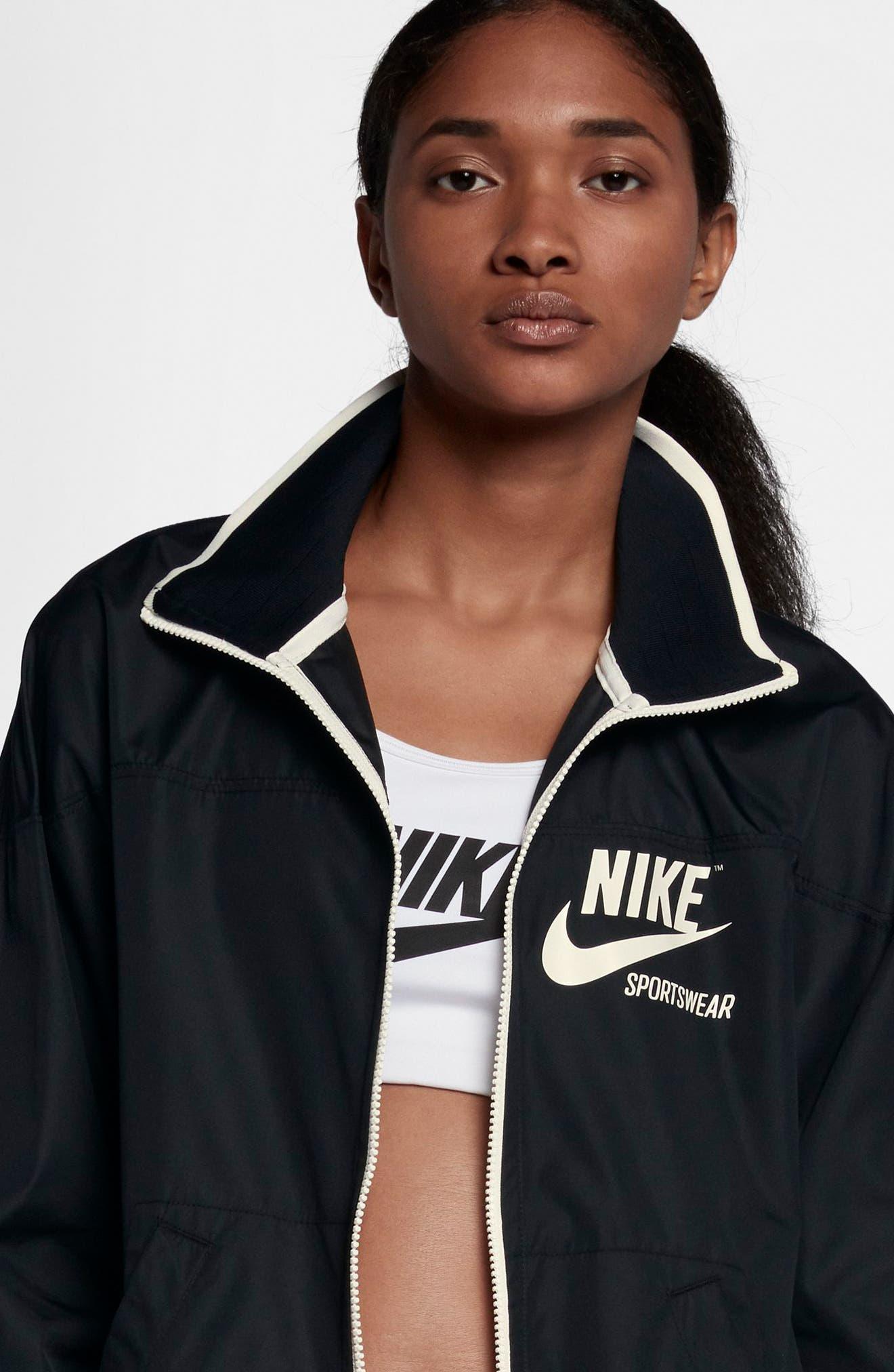 Sportswear Archive Jacket,                             Alternate thumbnail 7, color,                             Black/ Sail