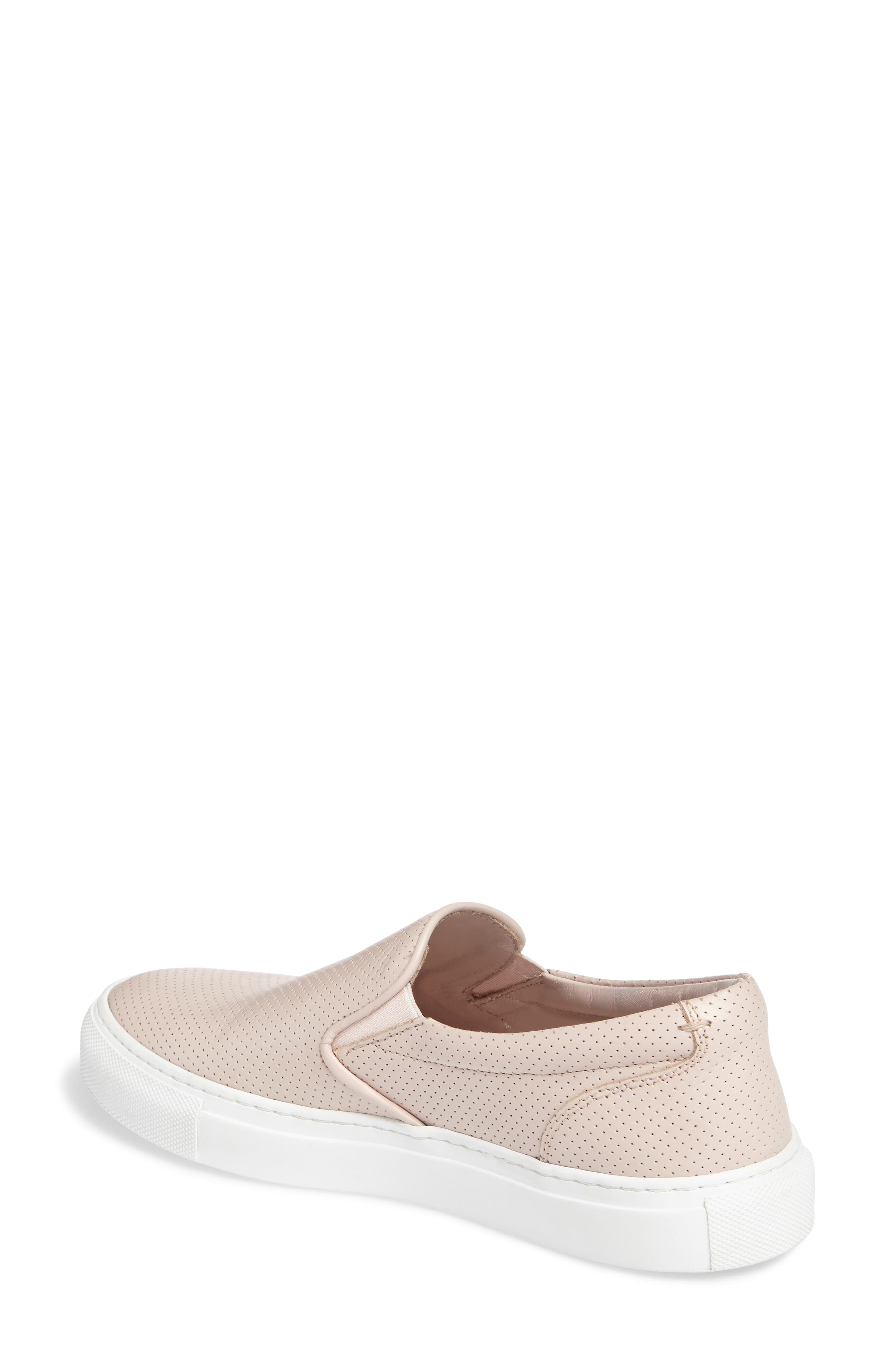 Wooster Slip-On Sneaker,                             Alternate thumbnail 2, color,                             Blush Perforated