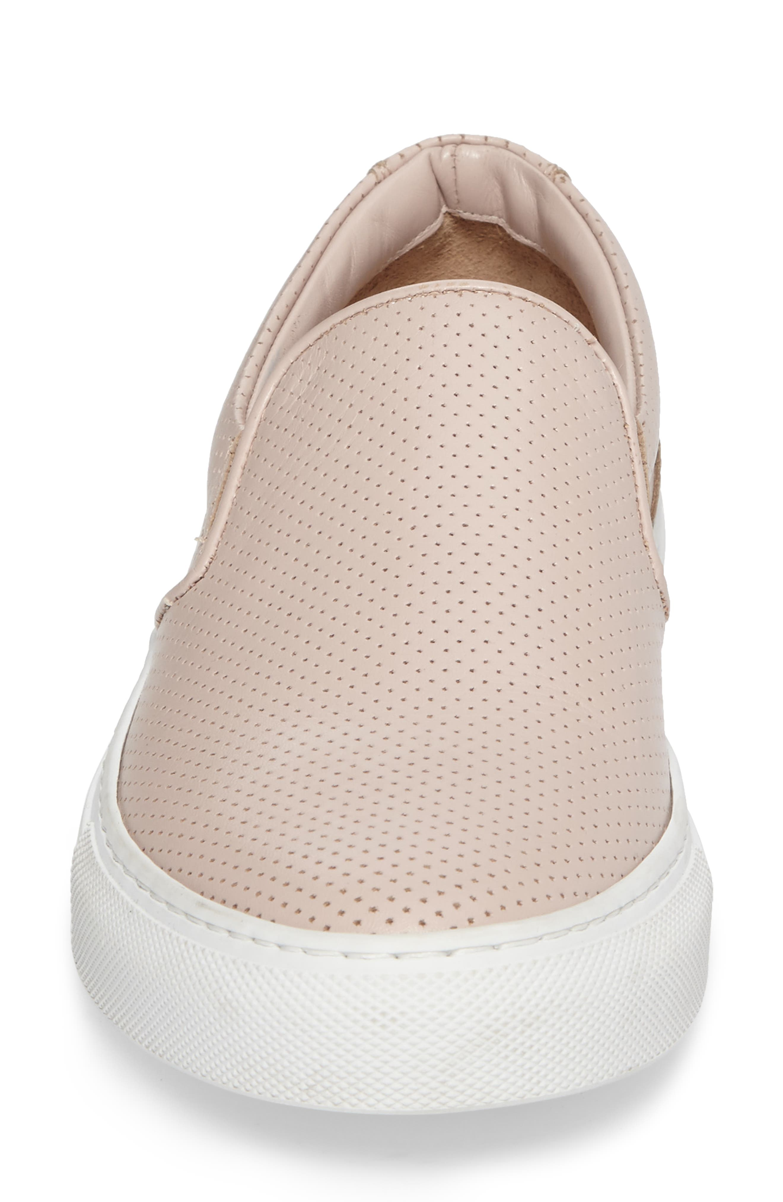 Wooster Slip-On Sneaker,                             Alternate thumbnail 4, color,                             Blush Perforated